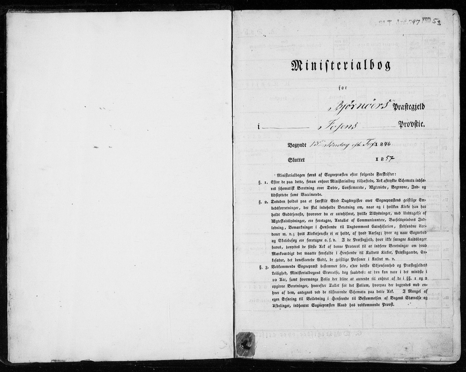 SAT, Ministerialprotokoller, klokkerbøker og fødselsregistre - Sør-Trøndelag, 657/L0704: Ministerialbok nr. 657A05, 1846-1857