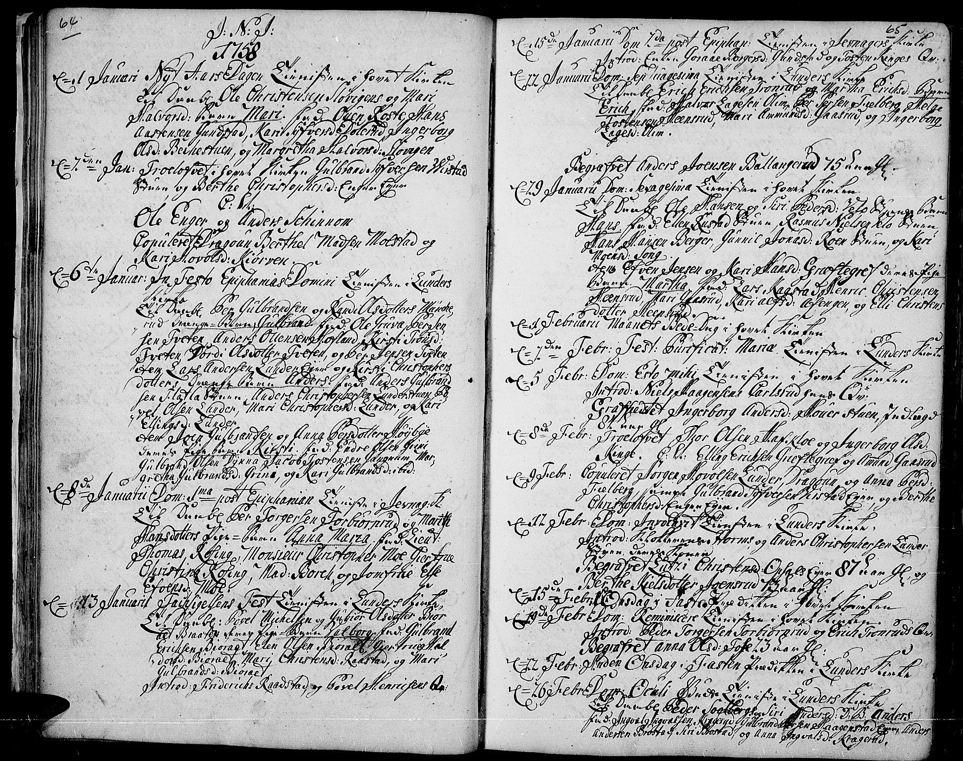 SAH, Jevnaker prestekontor, Ministerialbok nr. 3, 1752-1799, s. 64-65