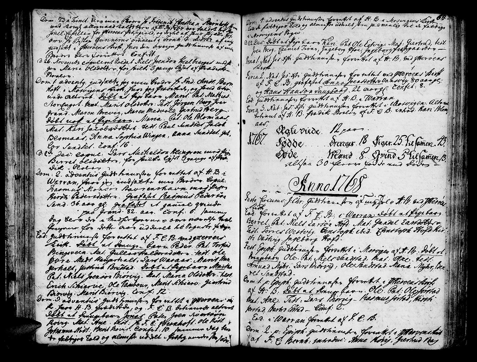 SAT, Ministerialprotokoller, klokkerbøker og fødselsregistre - Nord-Trøndelag, 722/L0216: Ministerialbok nr. 722A03, 1756-1816, s. 60