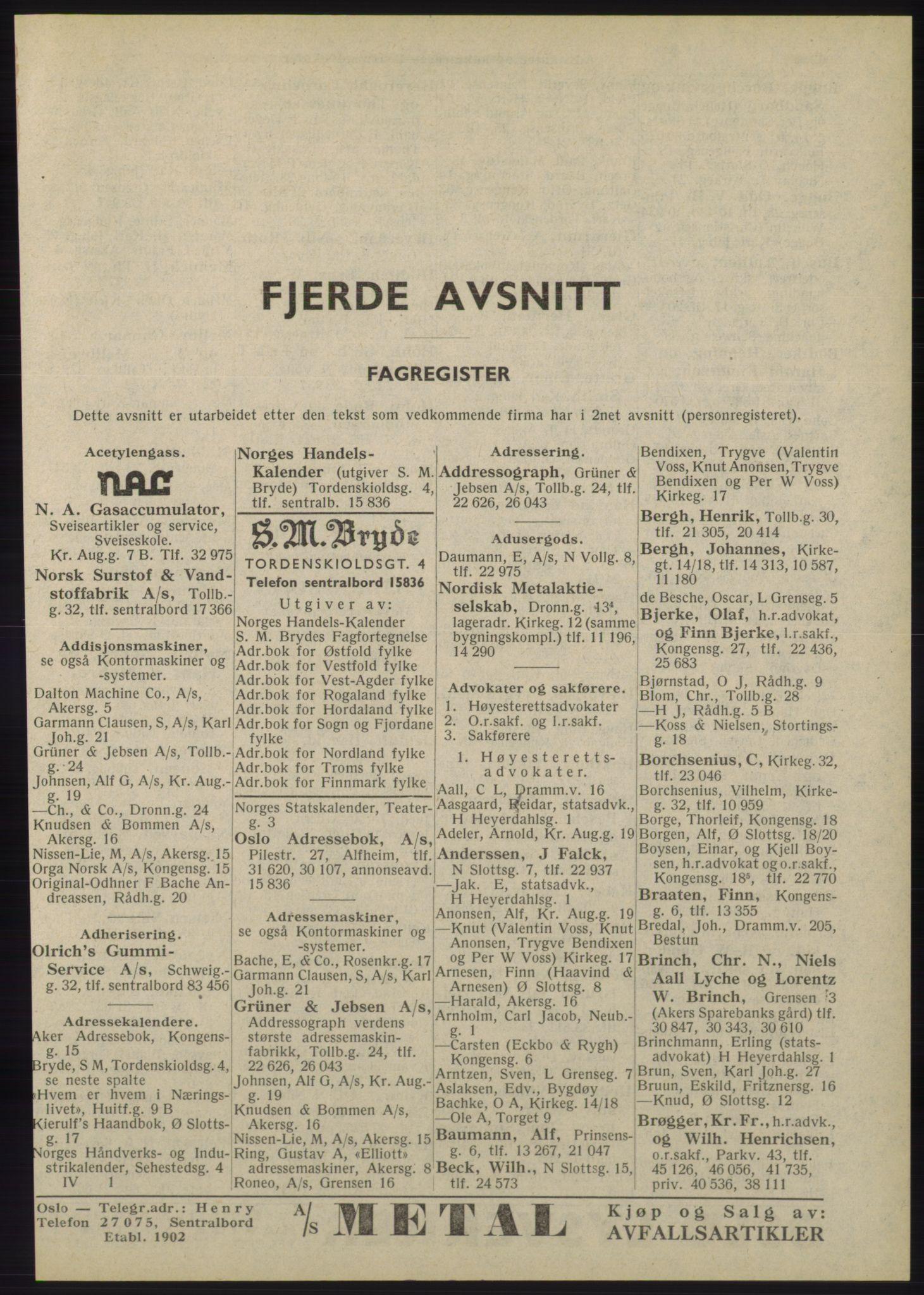 RA, Oslo adressebok (publikasjon)*, 1945, s. 2001