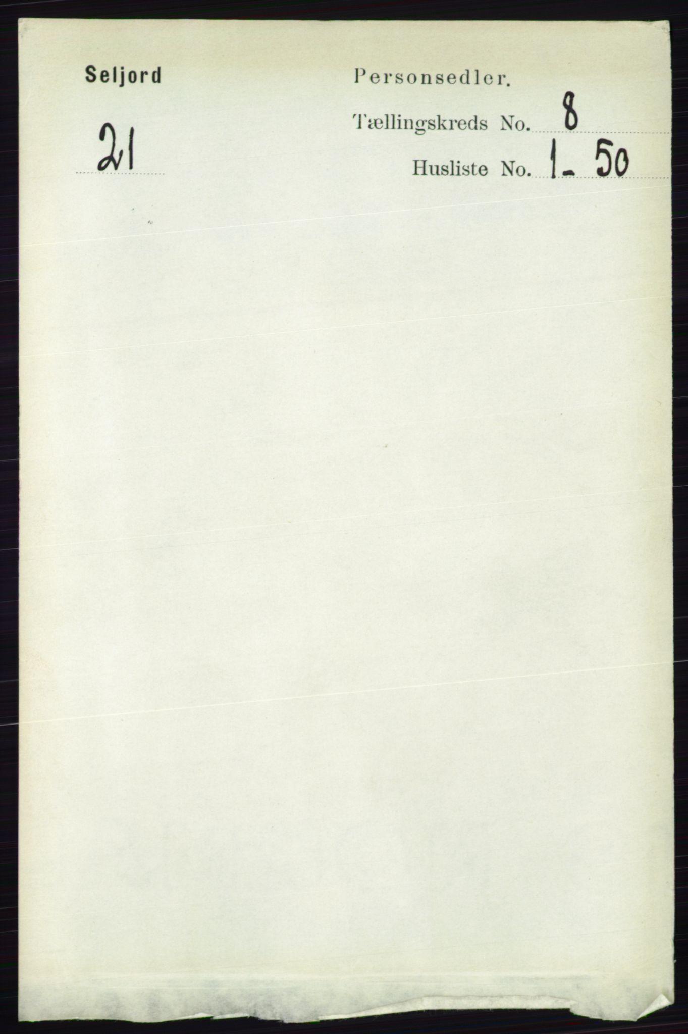 RA, Folketelling 1891 for 0828 Seljord herred, 1891, s. 2875