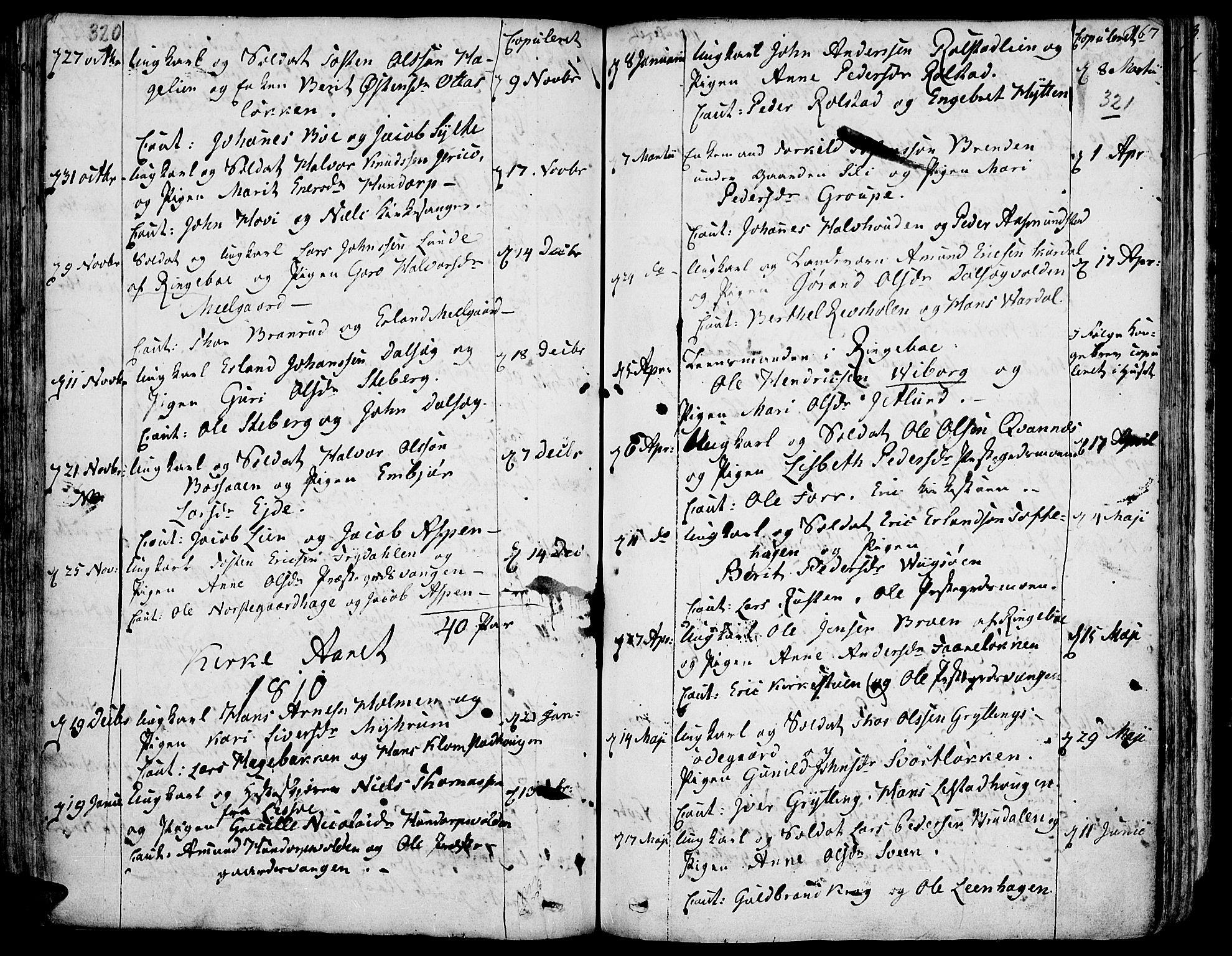 SAH, Fron prestekontor, H/Ha/Haa/L0001: Ministerialbok nr. 1, 1799-1816, s. 320-321