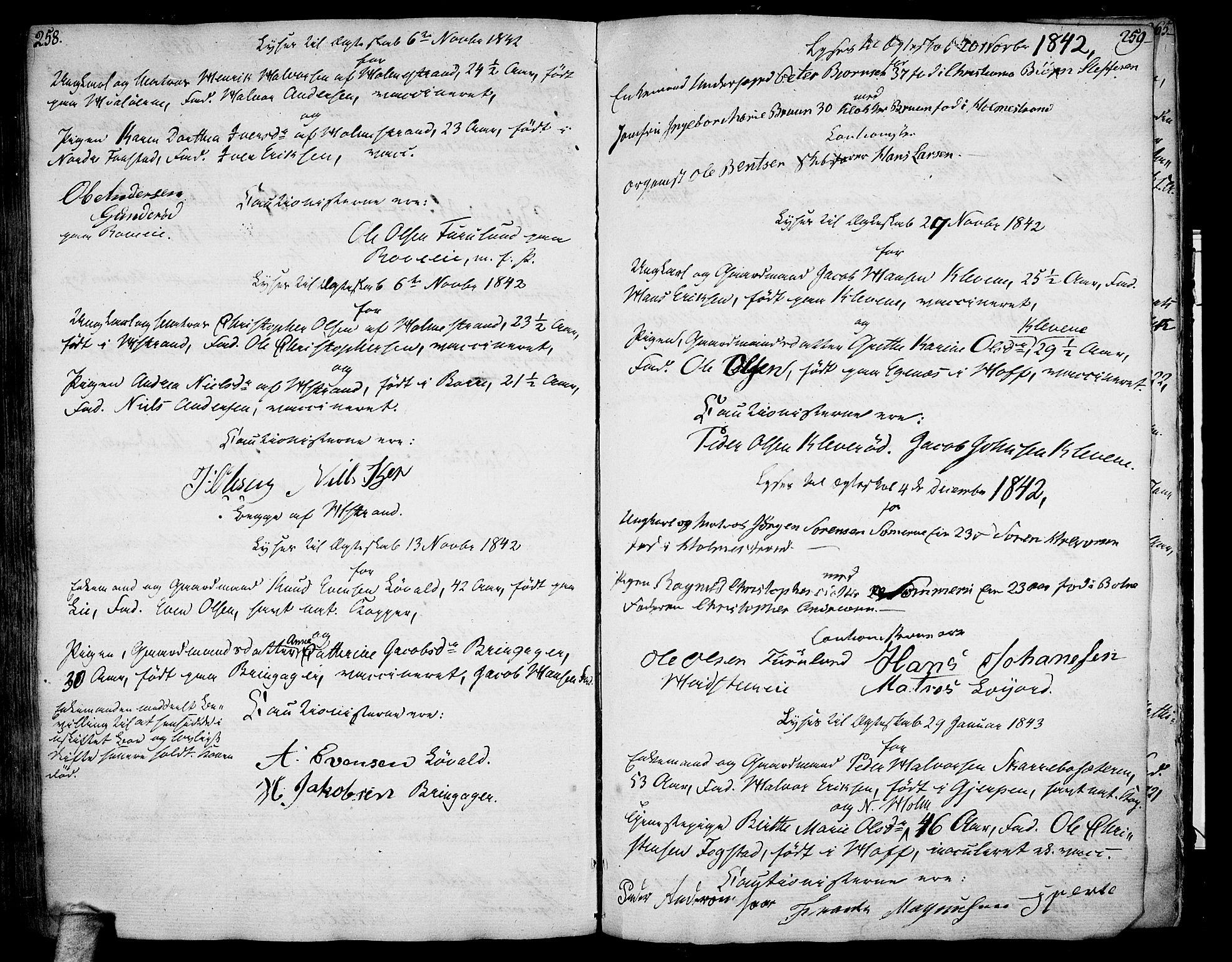 SAKO, Botne kirkebøker, F/Fa/L0003: Ministerialbok nr. I 3 /1, 1792-1844, s. 258-259
