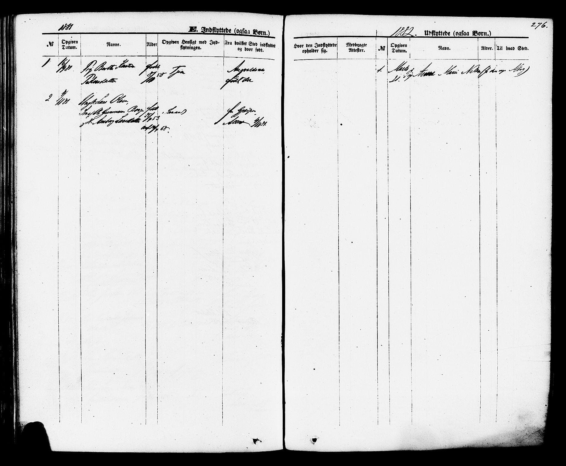 SAKO, Brevik kirkebøker, F/Fa/L0006: Ministerialbok nr. 6, 1866-1881, s. 276