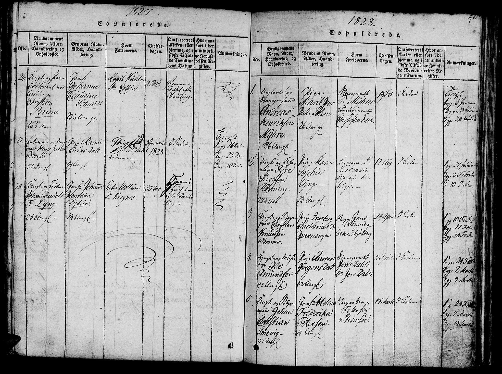 SAT, Ministerialprotokoller, klokkerbøker og fødselsregistre - Sør-Trøndelag, 602/L0135: Klokkerbok nr. 602C03, 1815-1832, s. 221