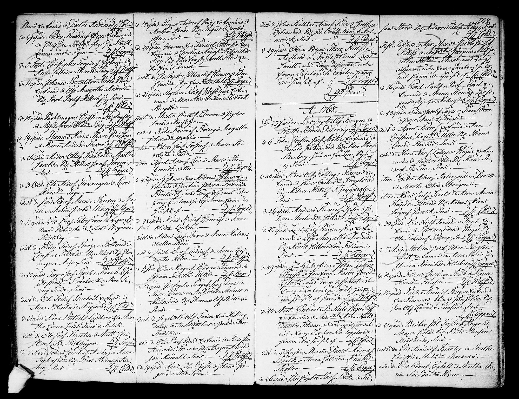 SAKO, Kongsberg kirkebøker, F/Fa/L0004: Ministerialbok nr. I 4, 1756-1768, s. 298