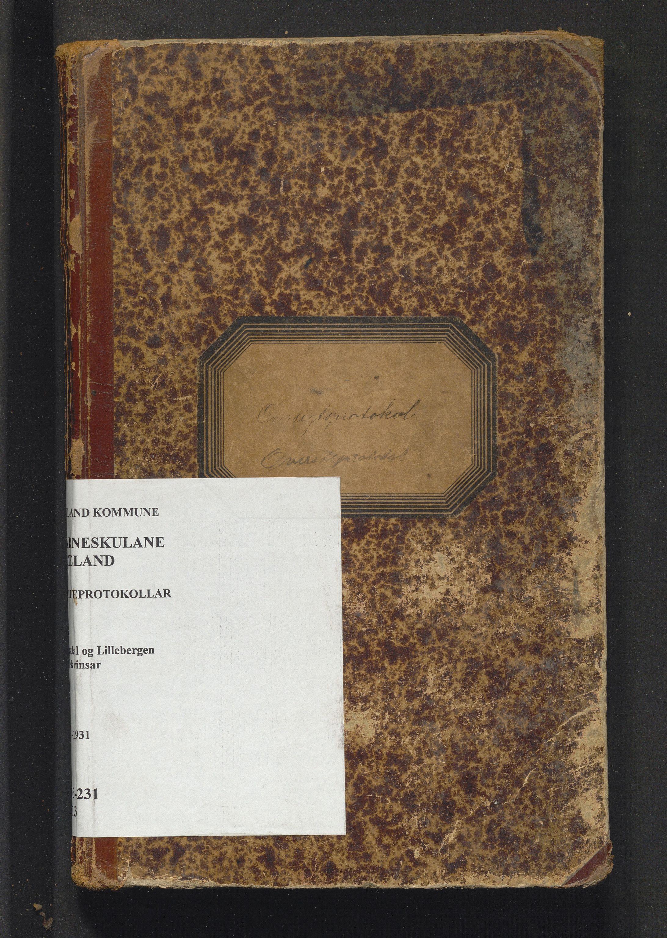 IKAH, Meland kommune. Barneskulane, F/Fa/L0013: Skuleprotokoll for Grasdal og Lillebergen krinsar, 1893-1931