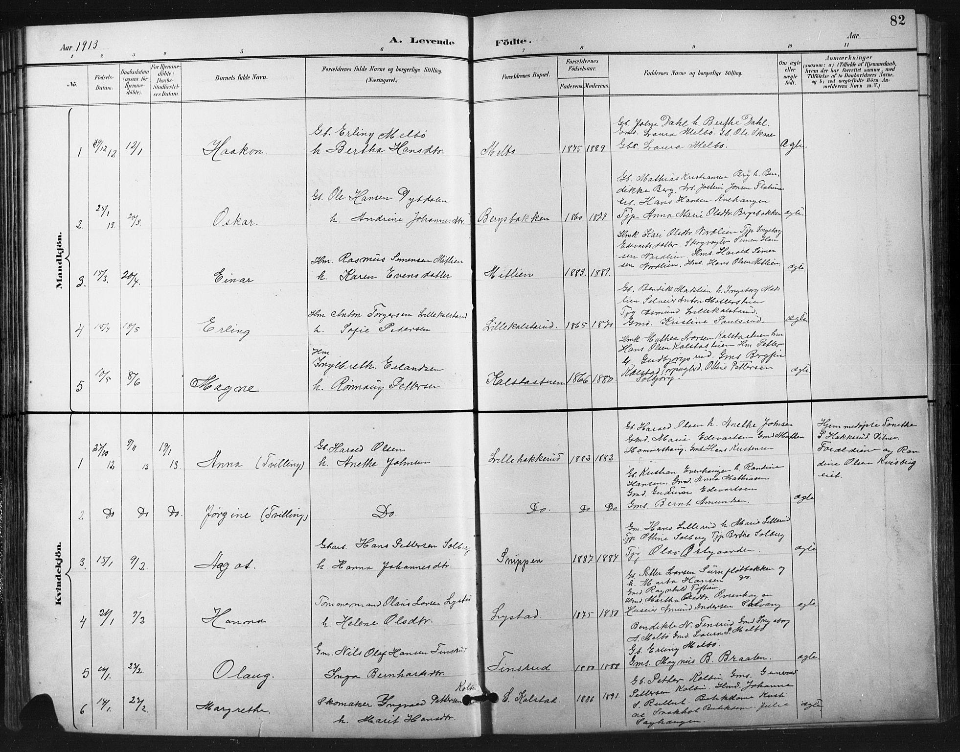SAH, Vestre Gausdal prestekontor, Klokkerbok nr. 3, 1896-1925, s. 82