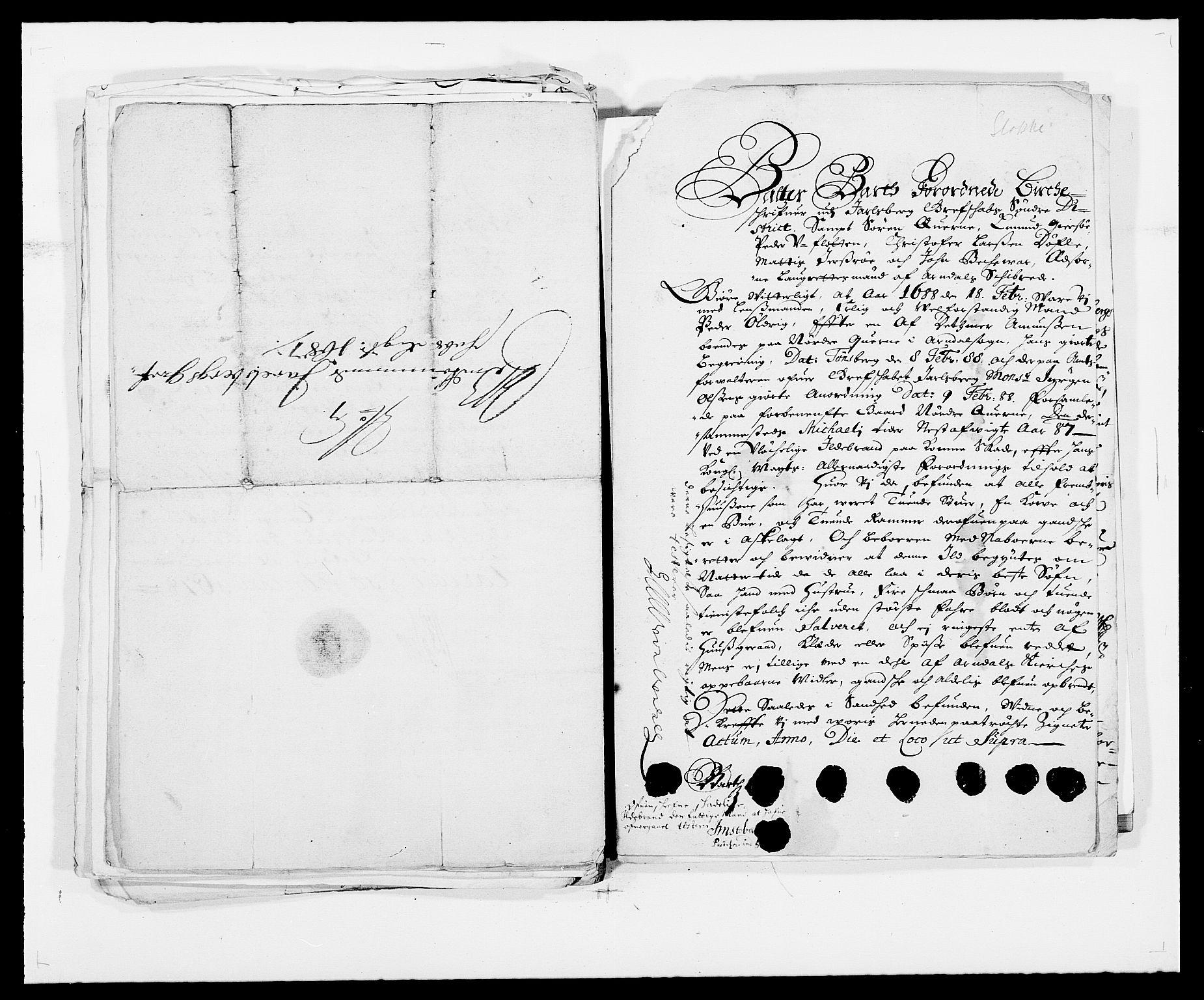 RA, Rentekammeret inntil 1814, Reviderte regnskaper, Fogderegnskap, R32/L1859: Fogderegnskap Jarlsberg grevskap, 1686-1690, s. 363