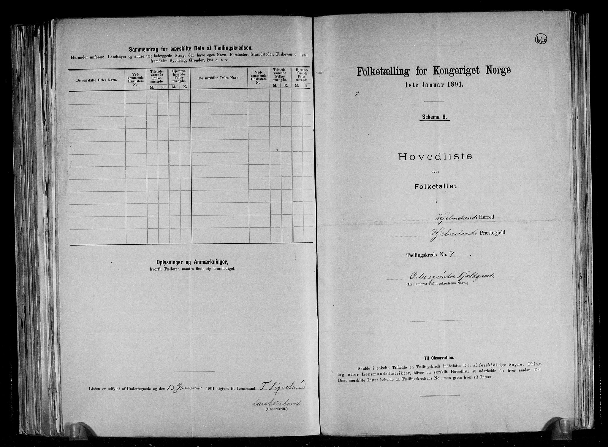 RA, Folketelling 1891 for 1133 Hjelmeland herred, 1891, s. 11