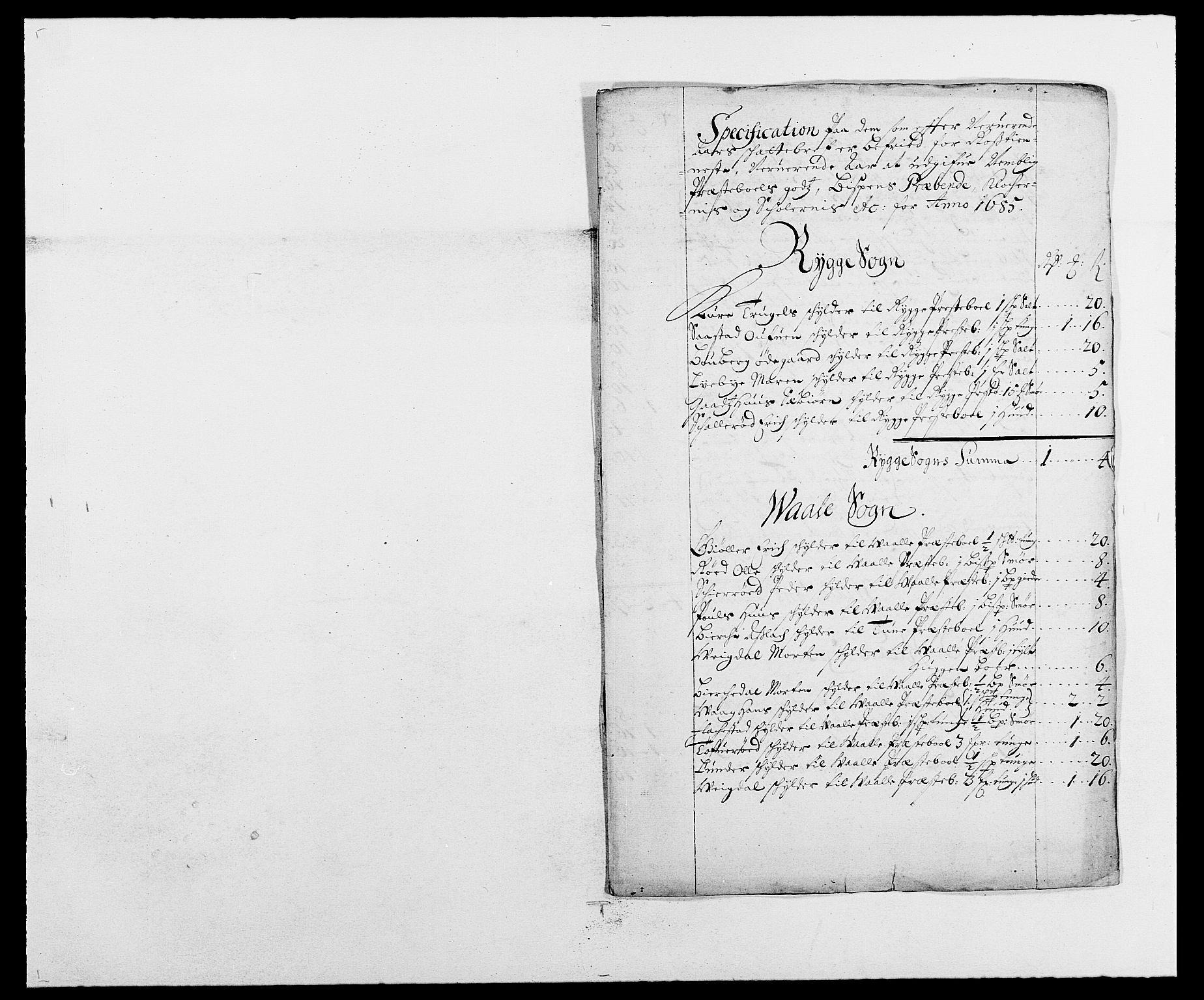 RA, Rentekammeret inntil 1814, Reviderte regnskaper, Fogderegnskap, R02/L0105: Fogderegnskap Moss og Verne kloster, 1685-1687, s. 112