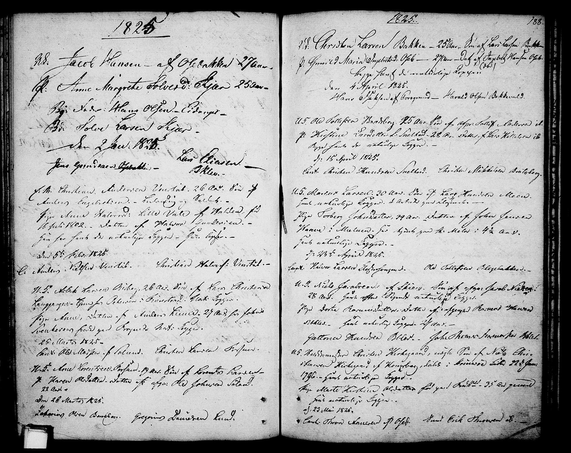 SAKO, Gjerpen kirkebøker, F/Fa/L0003: Ministerialbok nr. 3, 1796-1814, s. 188