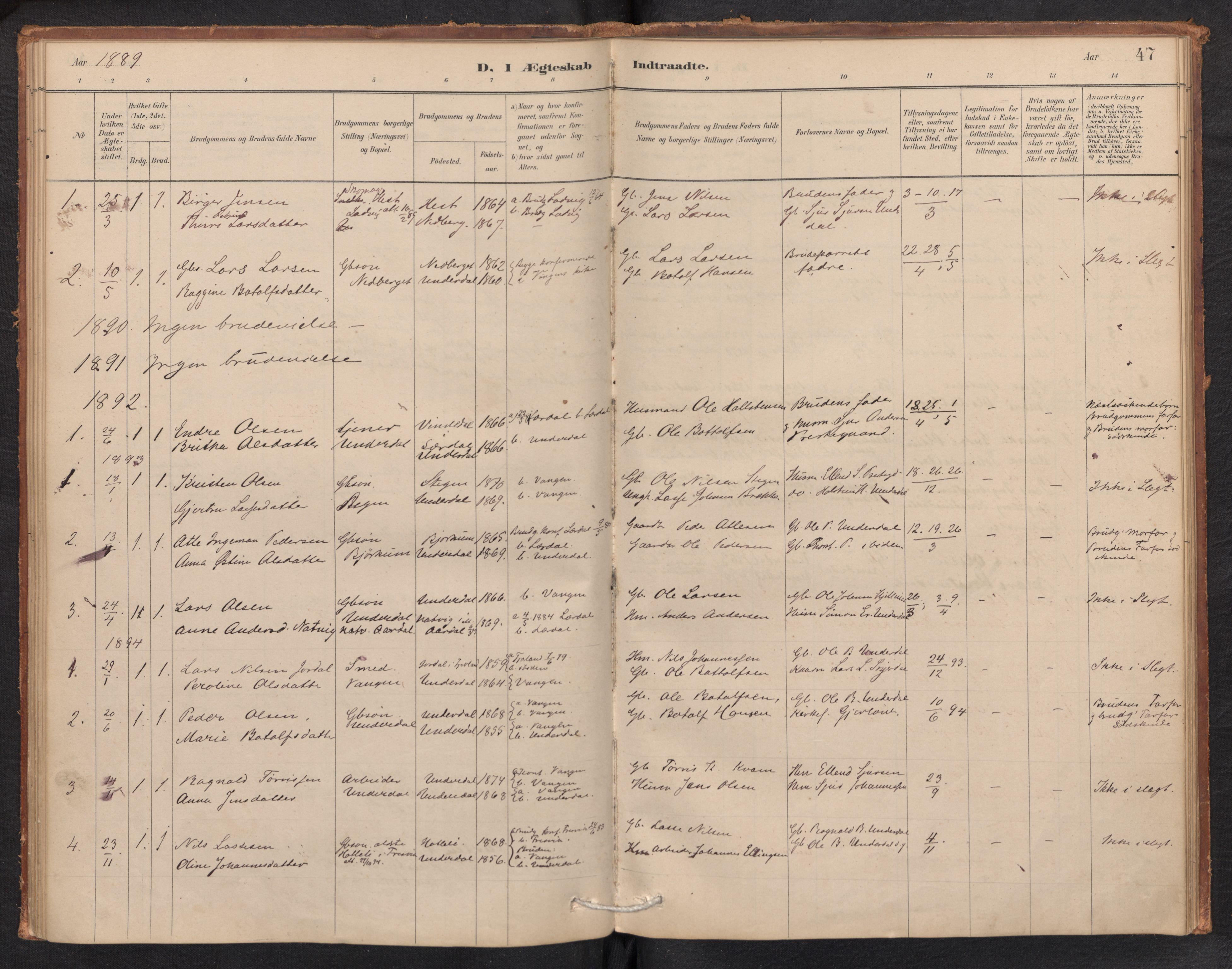 SAB, Aurland Sokneprestembete*, Ministerialbok nr. E 1, 1880-1907, s. 46b-47a
