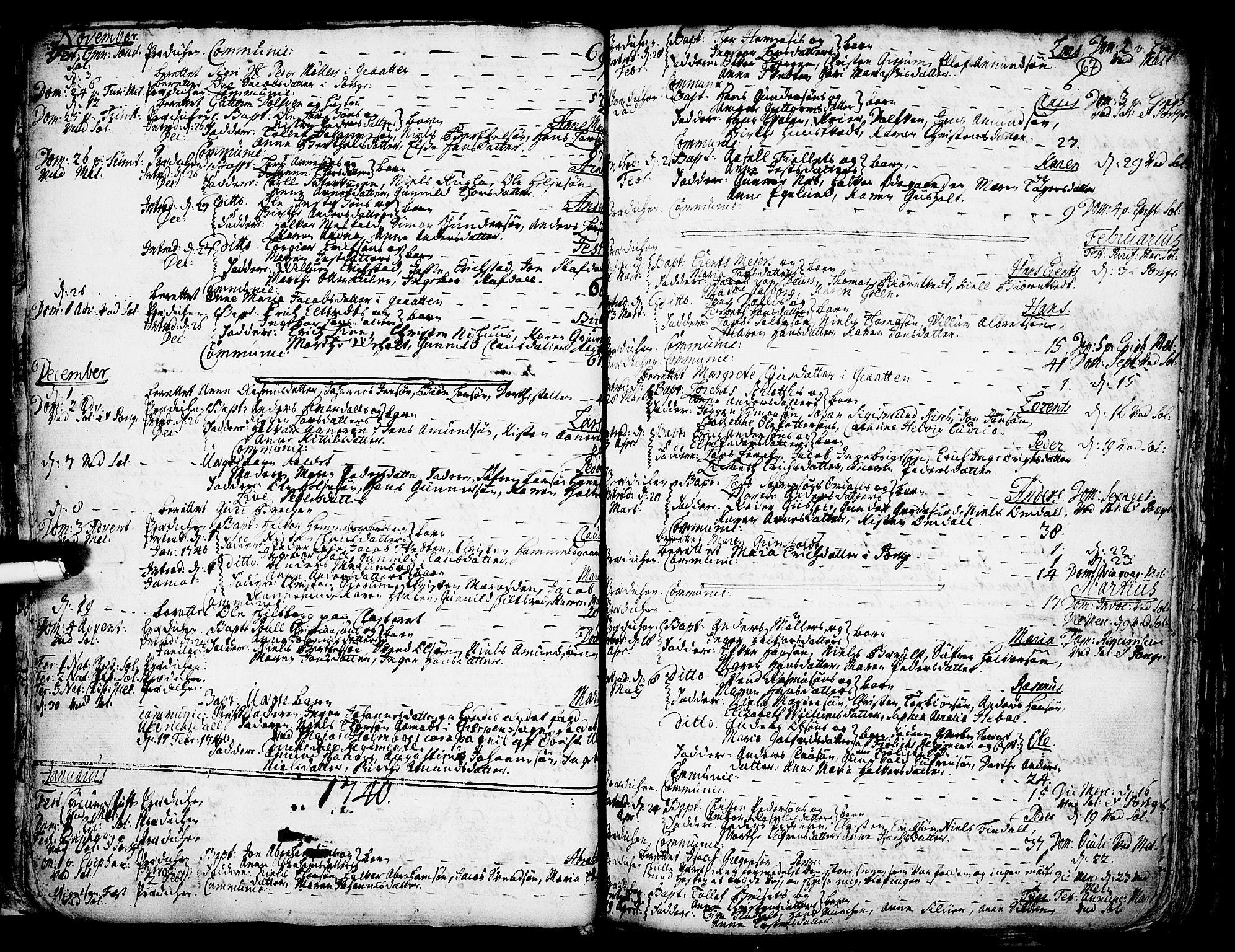 SAKO, Solum kirkebøker, F/Fa/L0002: Ministerialbok nr. I 2, 1713-1761, s. 67