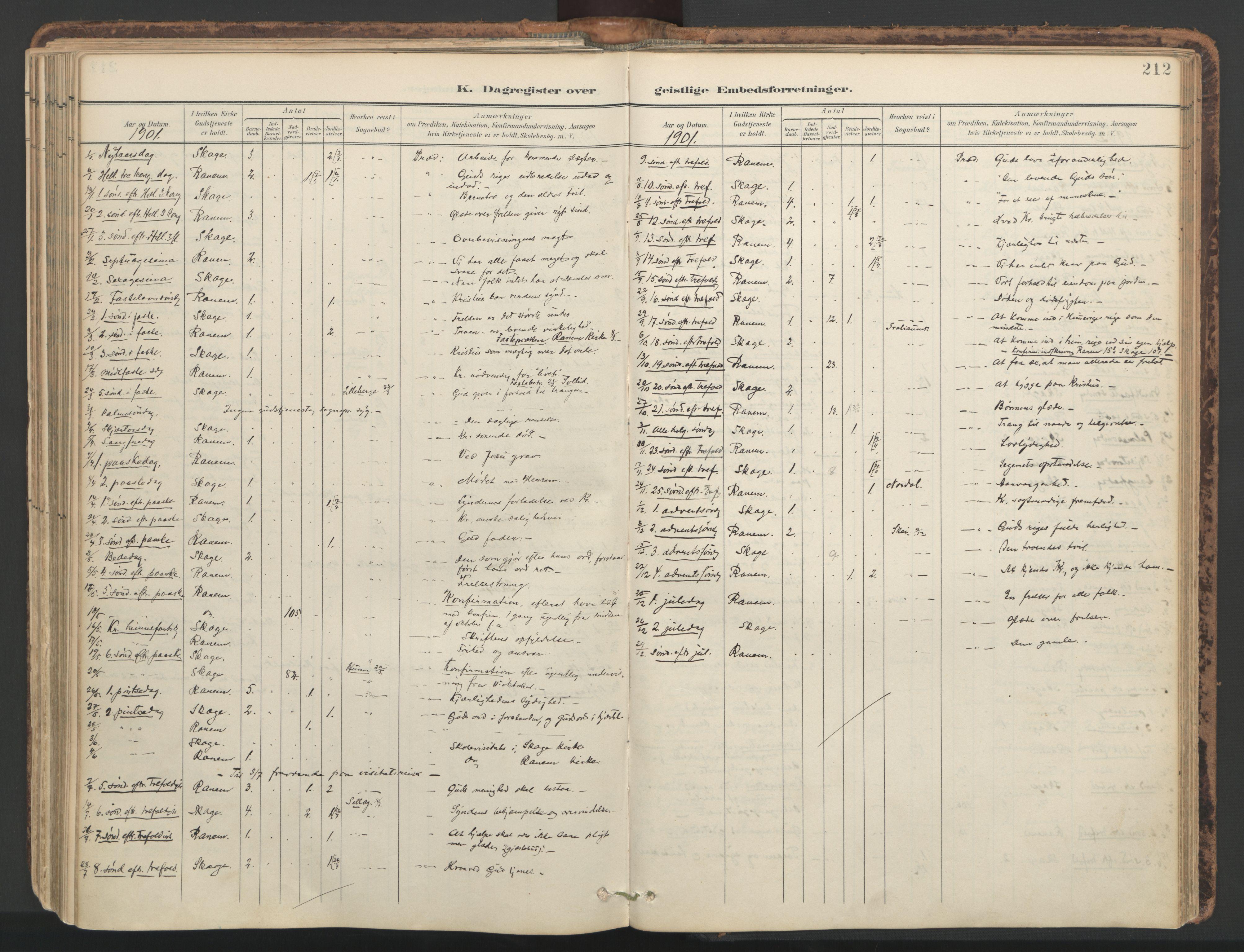 SAT, Ministerialprotokoller, klokkerbøker og fødselsregistre - Nord-Trøndelag, 764/L0556: Ministerialbok nr. 764A11, 1897-1924, s. 212