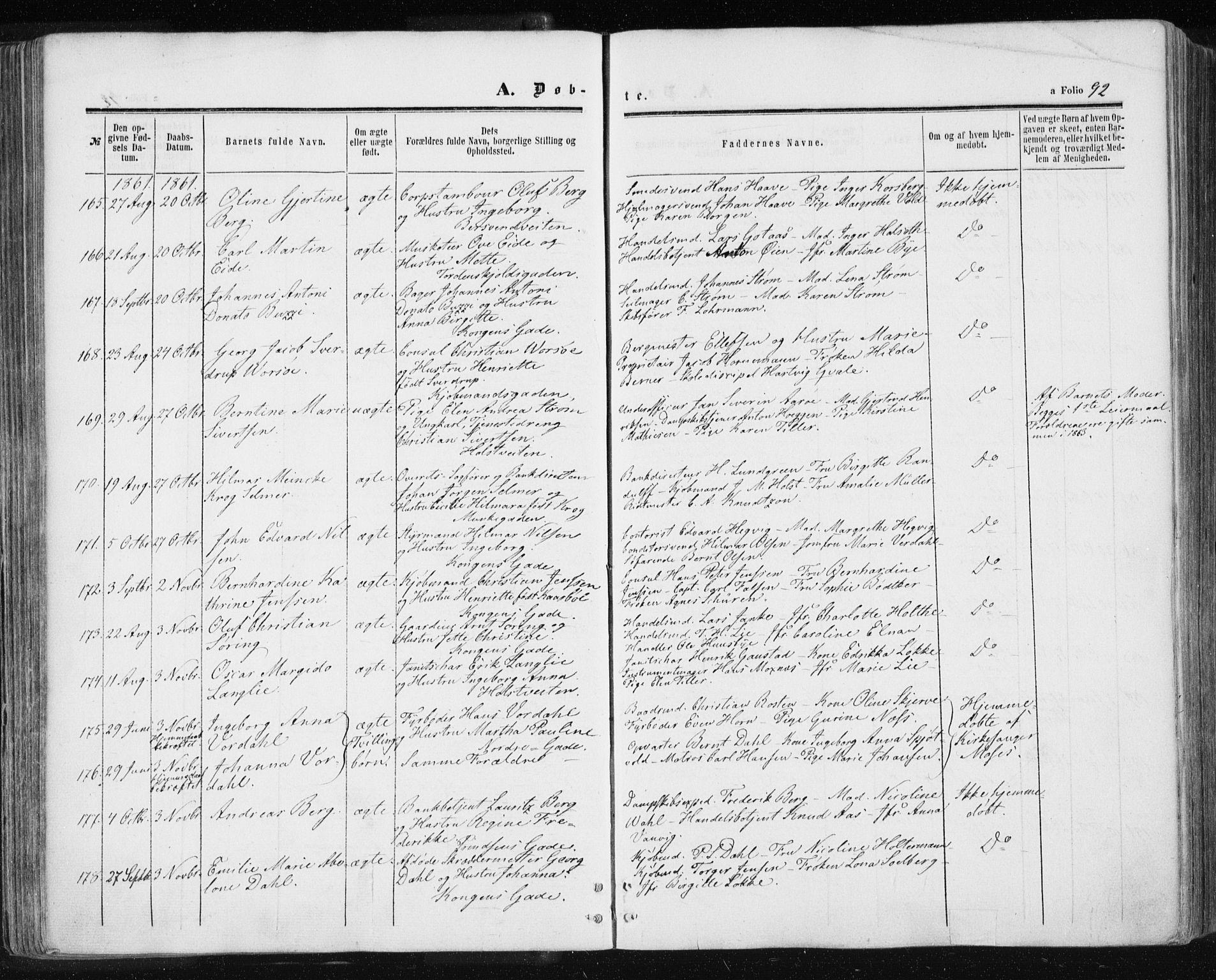 SAT, Ministerialprotokoller, klokkerbøker og fødselsregistre - Sør-Trøndelag, 601/L0053: Ministerialbok nr. 601A21, 1857-1865, s. 92