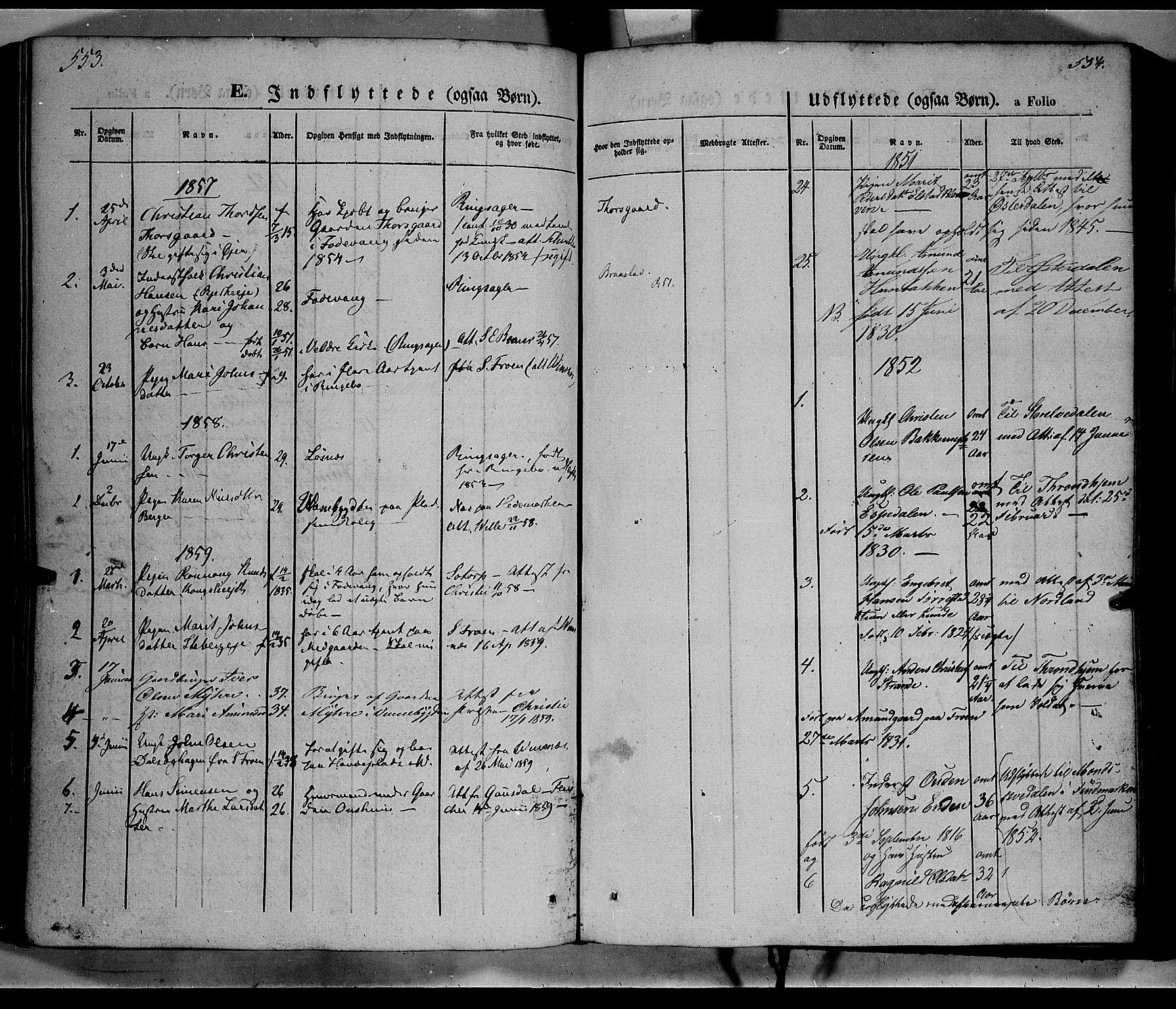 SAH, Ringebu prestekontor, Ministerialbok nr. 6, 1848-1859, s. 553-554