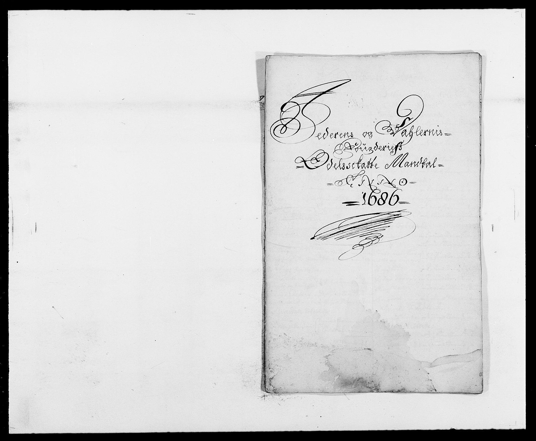 RA, Rentekammeret inntil 1814, Reviderte regnskaper, Fogderegnskap, R46/L2726: Fogderegnskap Jæren og Dalane, 1686-1689, s. 8