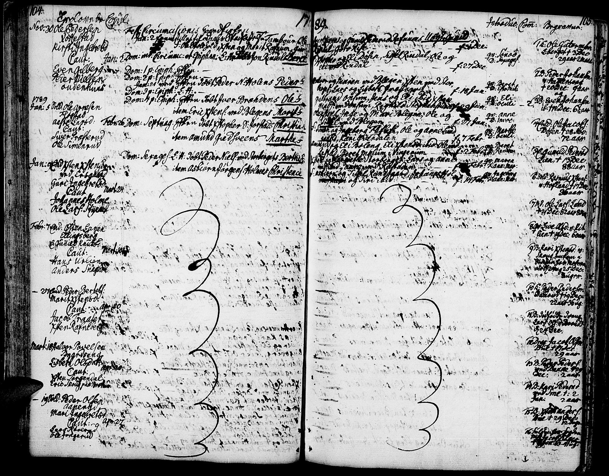 SAH, Fåberg prestekontor, Ministerialbok nr. 2, 1775-1818, s. 104-105