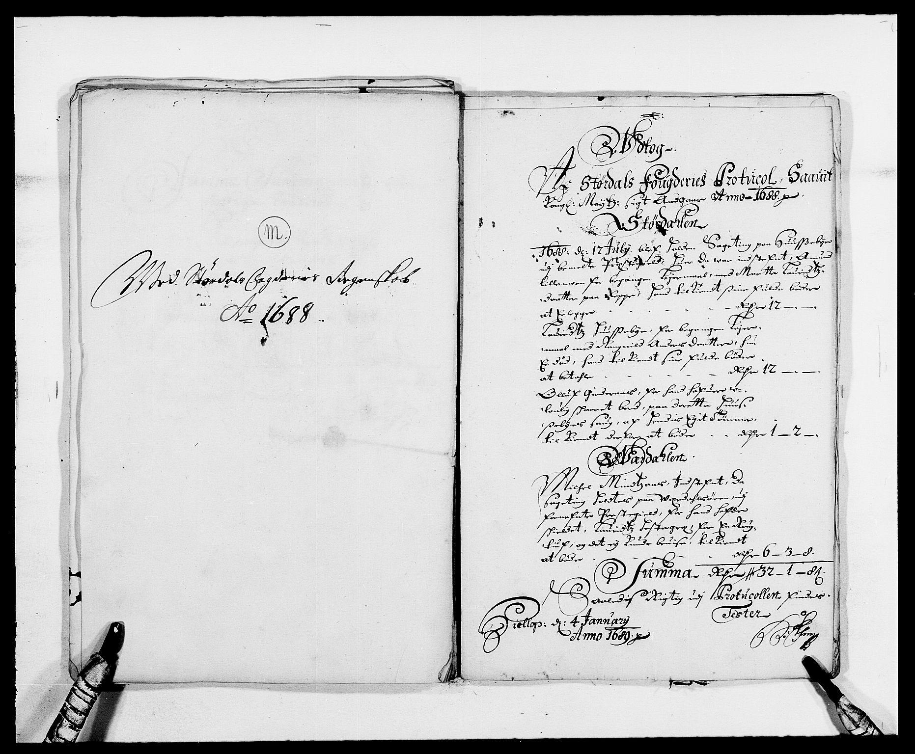 RA, Rentekammeret inntil 1814, Reviderte regnskaper, Fogderegnskap, R62/L4183: Fogderegnskap Stjørdal og Verdal, 1687-1689, s. 256