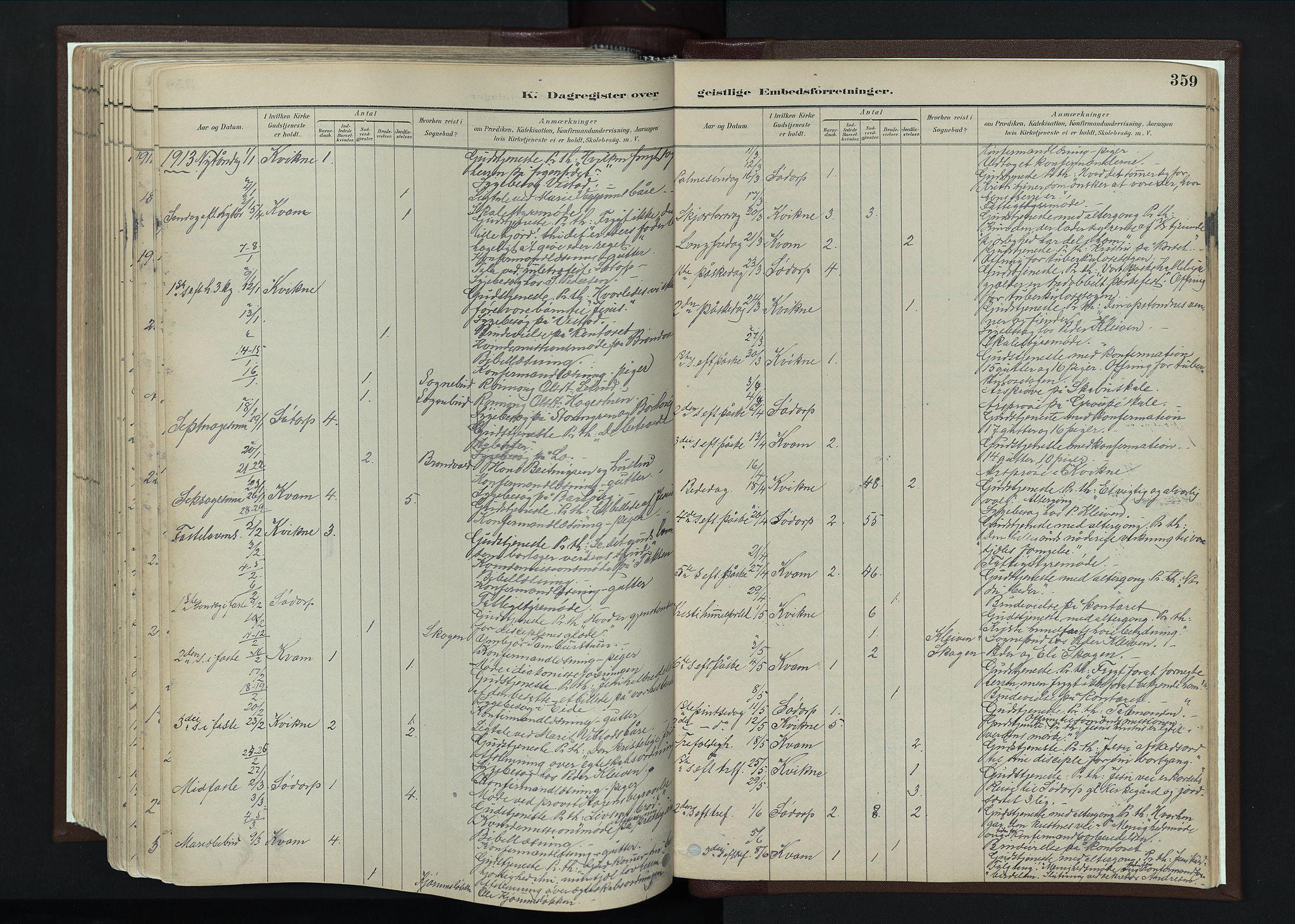 SAH, Nord-Fron prestekontor, Ministerialbok nr. 4, 1884-1914, s. 359