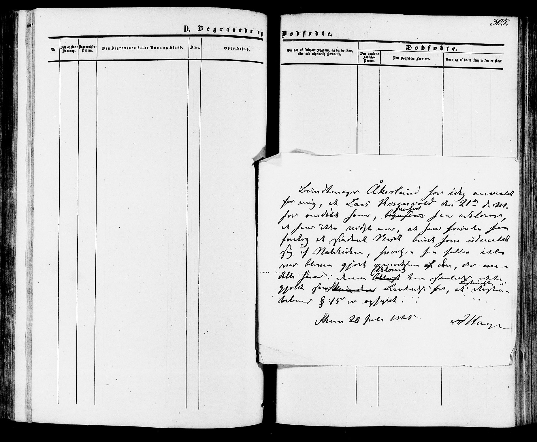 SAKO, Skien kirkebøker, F/Fa/L0007: Ministerialbok nr. 7, 1856-1865, s. 305