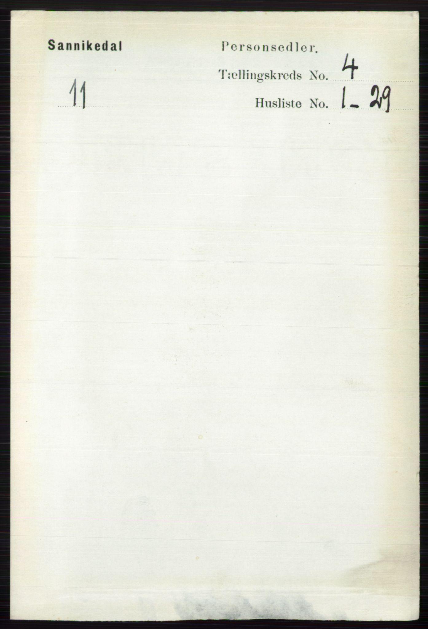 RA, Folketelling 1891 for 0816 Sannidal herred, 1891, s. 1224