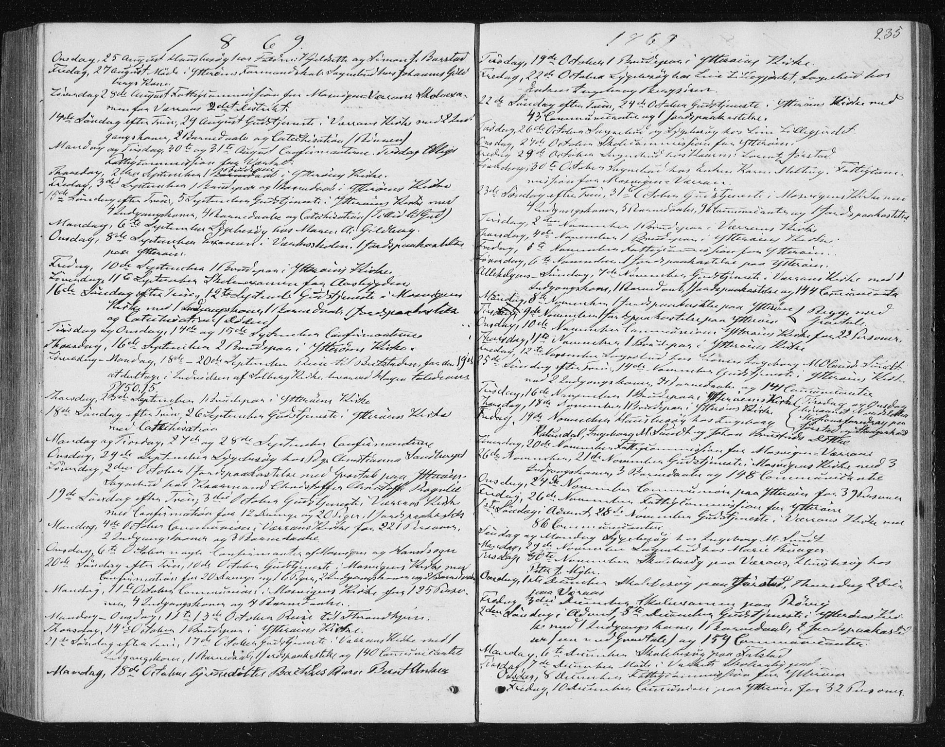 SAT, Ministerialprotokoller, klokkerbøker og fødselsregistre - Nord-Trøndelag, 722/L0219: Ministerialbok nr. 722A06, 1868-1880, s. 235
