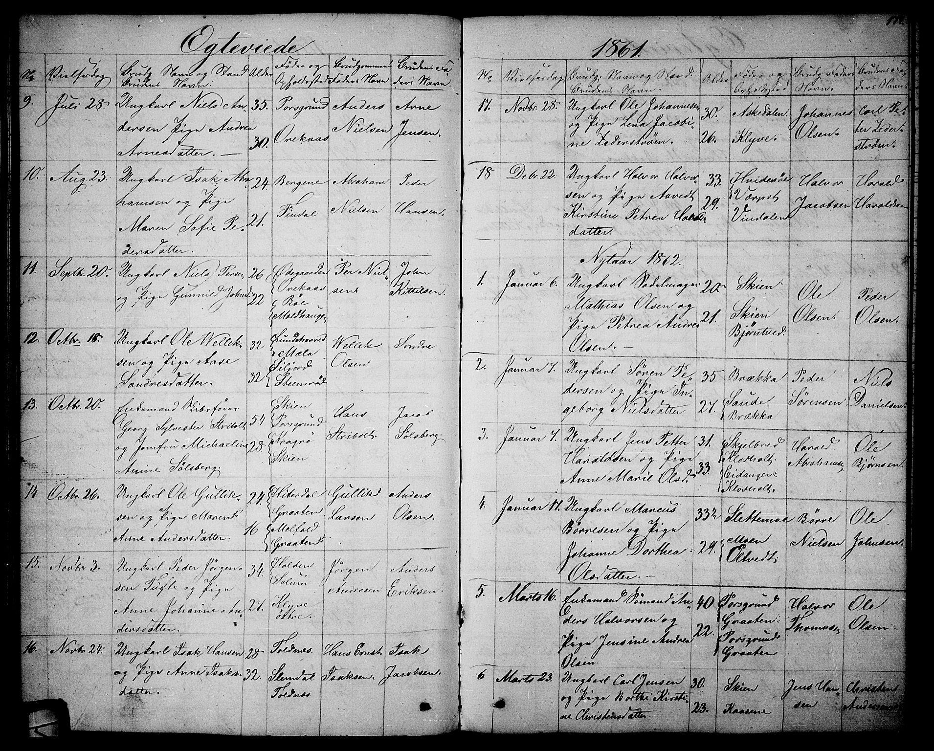 SAKO, Solum kirkebøker, G/Ga/L0004: Klokkerbok nr. I 4, 1859-1876, s. 174
