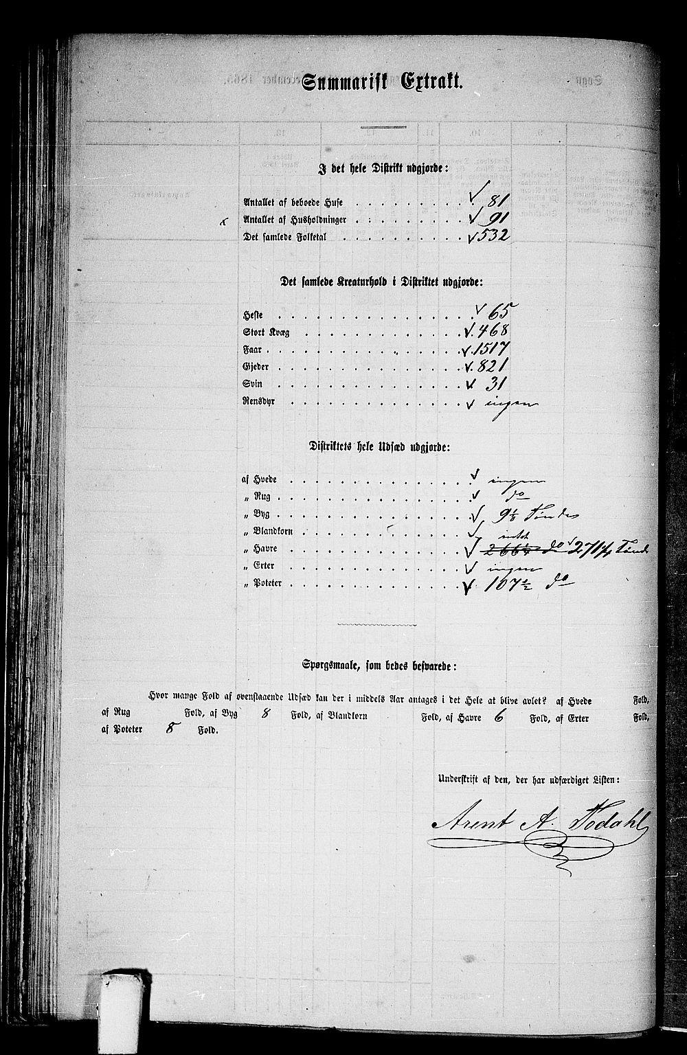 RA, Folketelling 1865 for 1569P Aure prestegjeld, 1865, s. 52