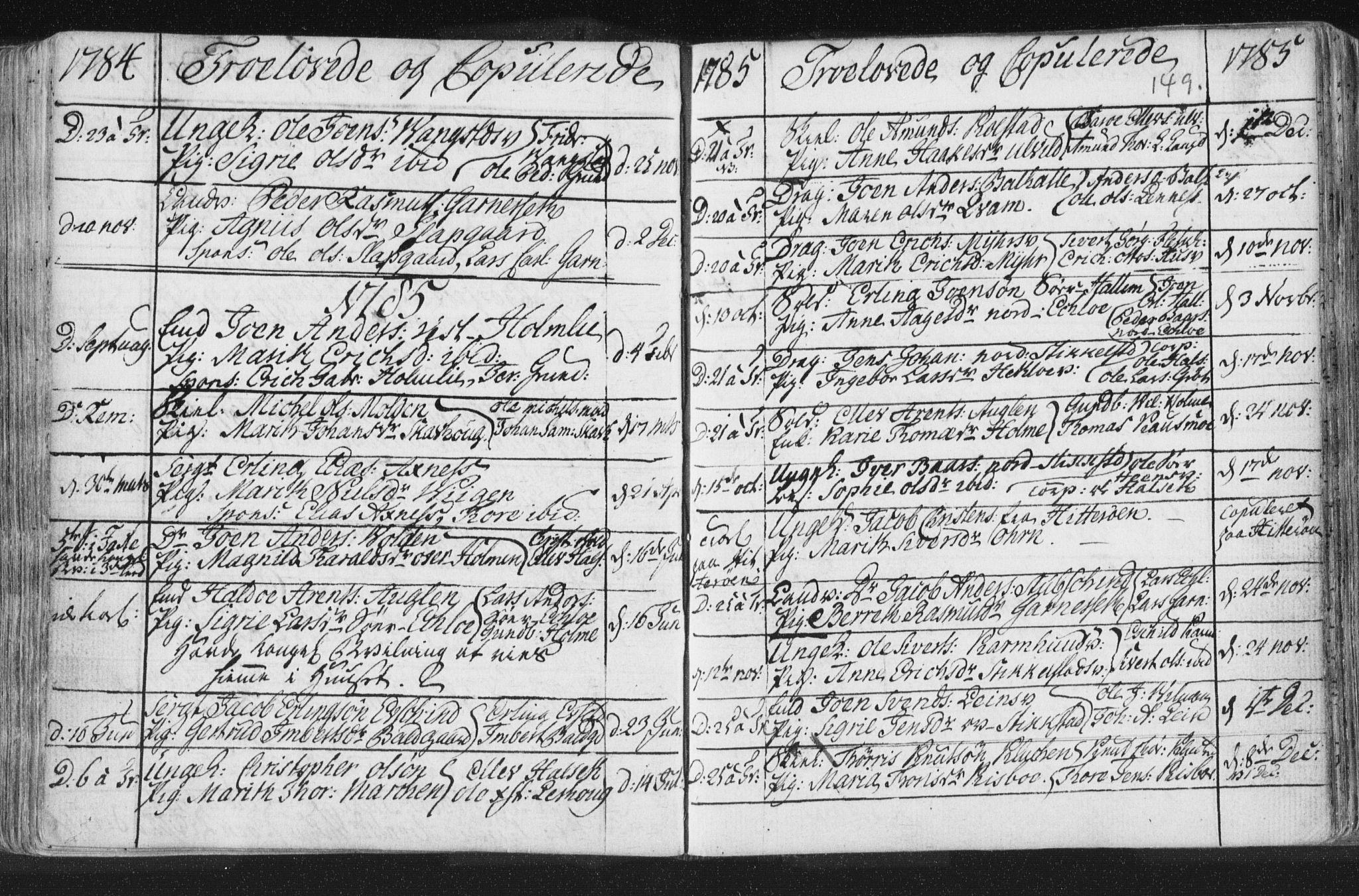 SAT, Ministerialprotokoller, klokkerbøker og fødselsregistre - Nord-Trøndelag, 723/L0232: Ministerialbok nr. 723A03, 1781-1804, s. 149