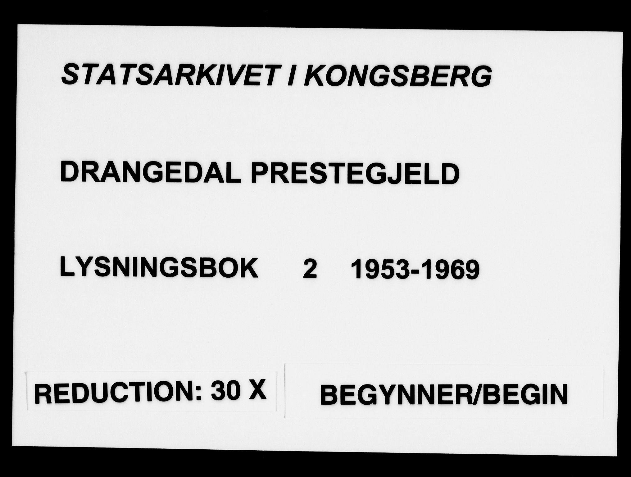 SAKO, Drangedal kirkebøker, H/Ha/L0002: Lysningsprotokoll nr. 2, 1953-1969
