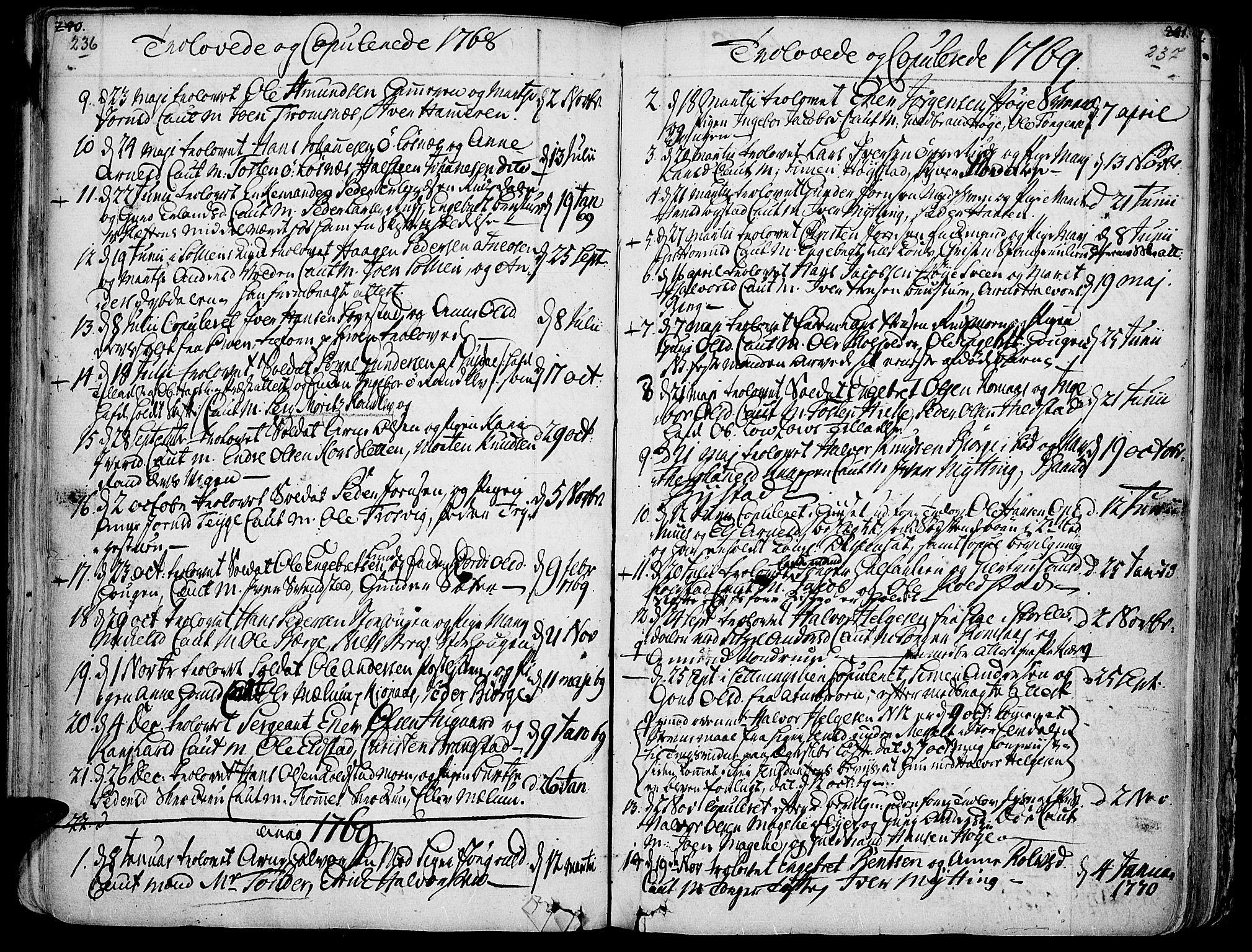 SAH, Ringebu prestekontor, Ministerialbok nr. 2, 1734-1780, s. 236-237