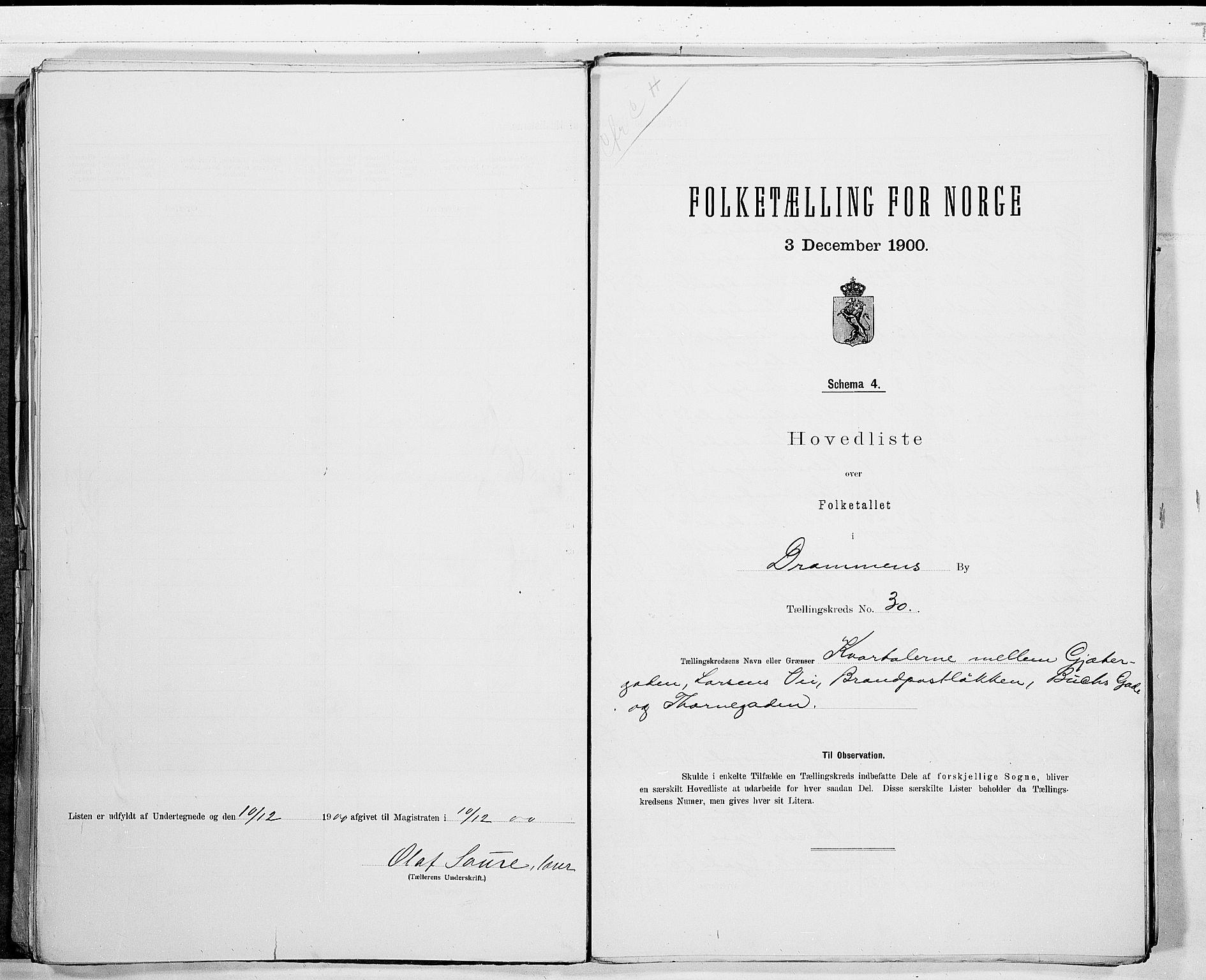 RA, Folketelling 1900 for 0602 Drammen kjøpstad, 1900, s. 65