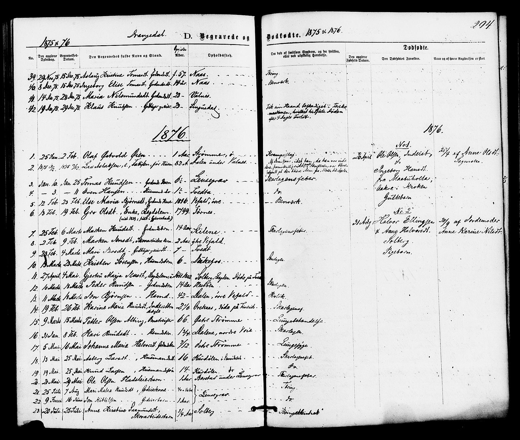 SAKO, Drangedal kirkebøker, F/Fa/L0009: Ministerialbok nr. 9 /1, 1872-1884, s. 294