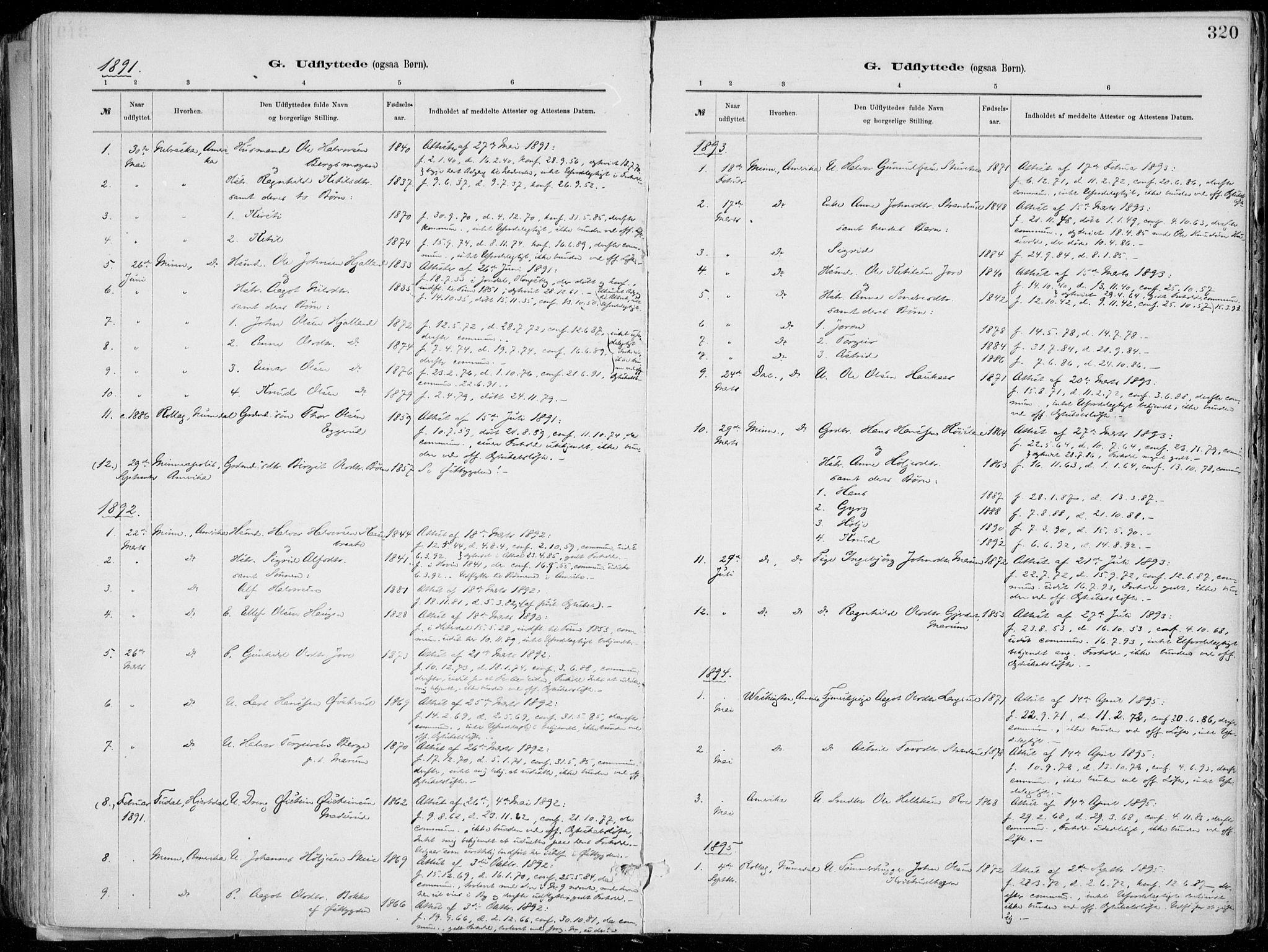 SAKO, Tinn kirkebøker, F/Fa/L0007: Ministerialbok nr. I 7, 1878-1922, s. 320