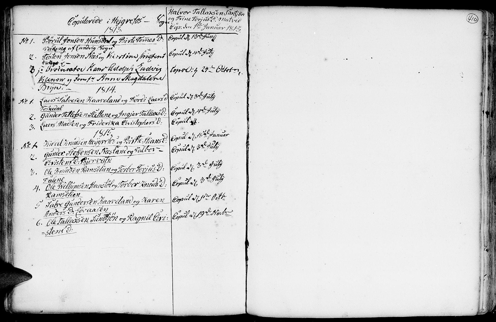 SAK, Hommedal sokneprestkontor, F/Fa/Fab/L0002: Ministerialbok nr. A 2 /3, 1740-1821, s. 410