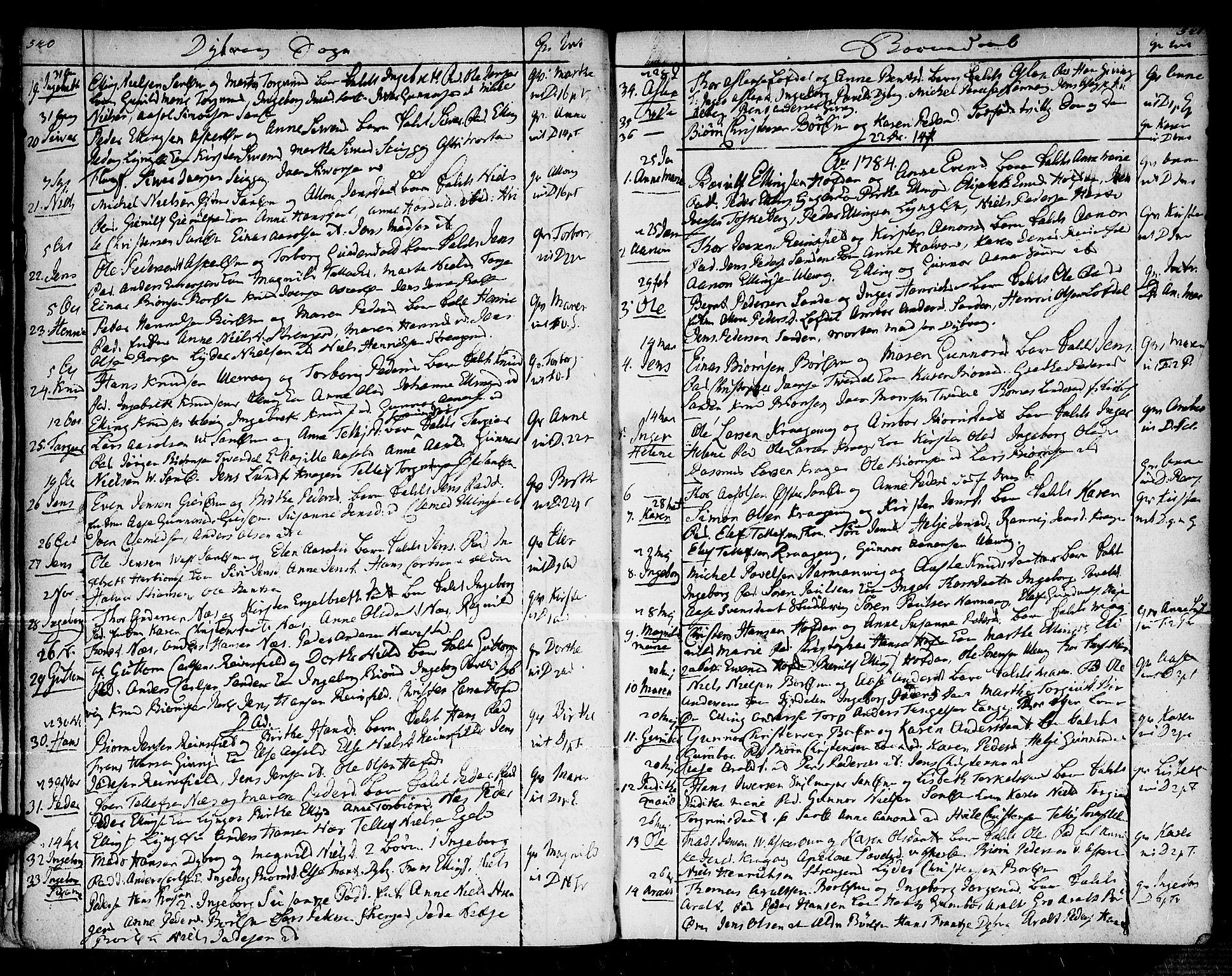SAK, Dypvåg sokneprestkontor, F/Fa/Faa/L0001: Ministerialbok nr. A 1 /1, 1765-1798, s. 540-541