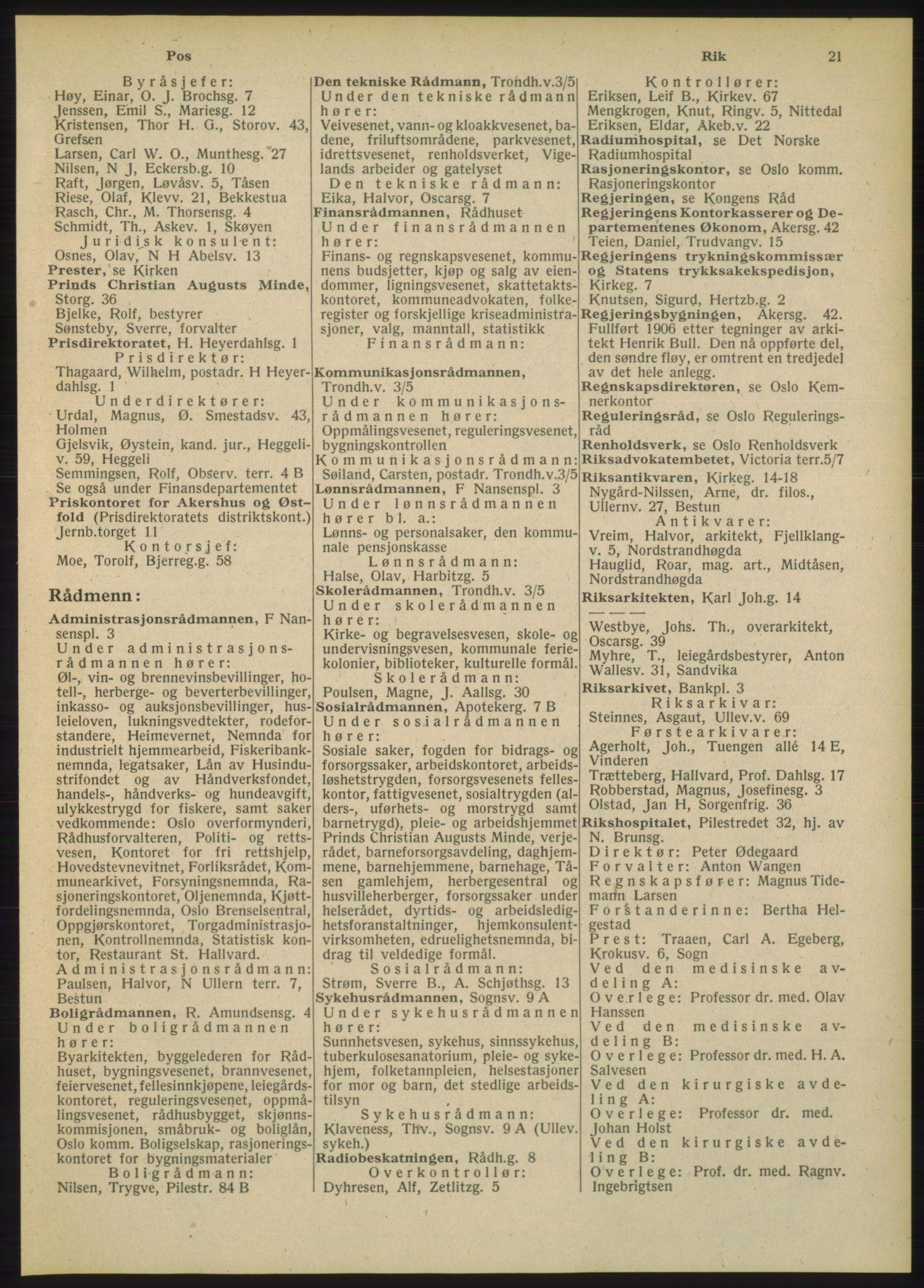 PUBL, Kristiania/Oslo adressebok, 1948, s. 21