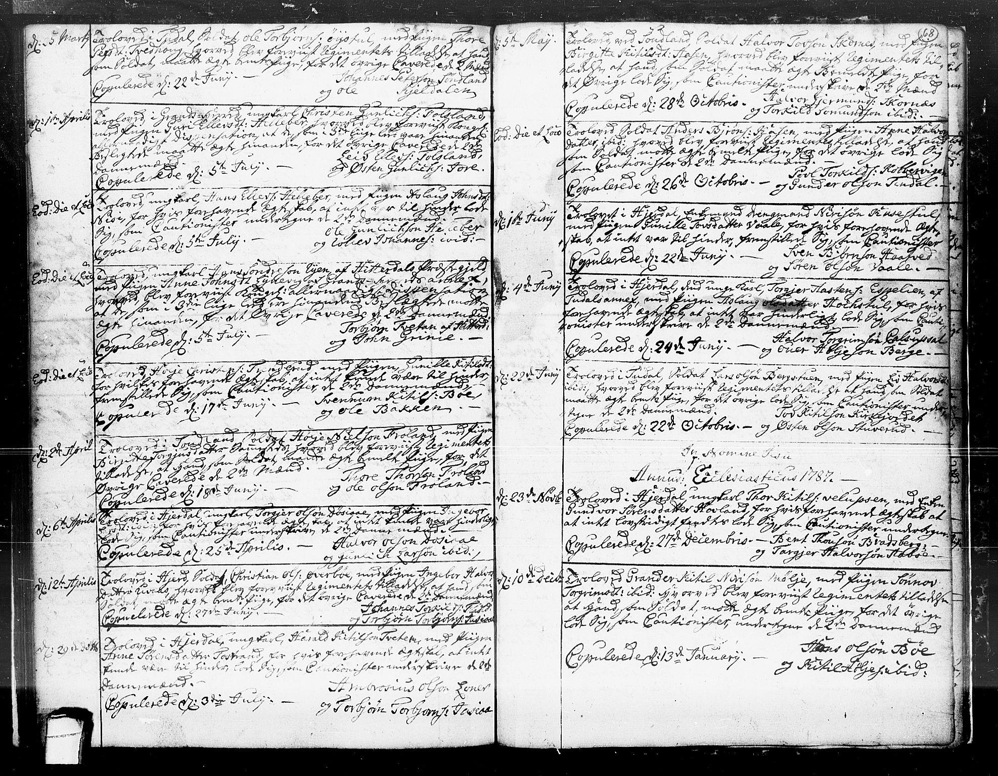 SAKO, Hjartdal kirkebøker, F/Fa/L0004: Ministerialbok nr. I 4, 1727-1795, s. 68