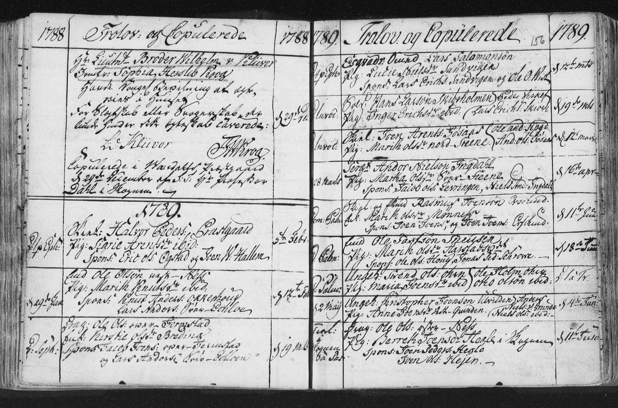 SAT, Ministerialprotokoller, klokkerbøker og fødselsregistre - Nord-Trøndelag, 723/L0232: Ministerialbok nr. 723A03, 1781-1804, s. 156