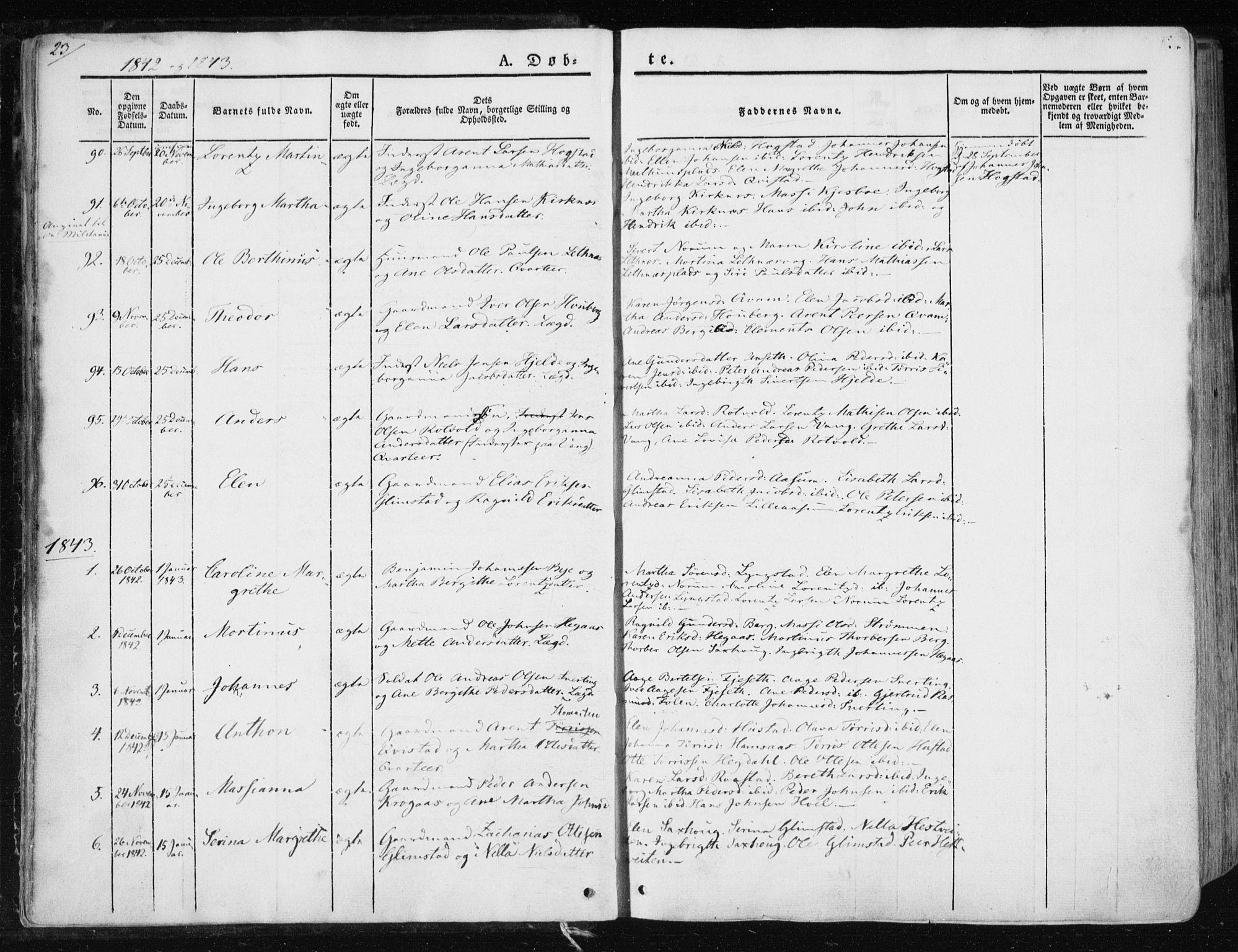 SAT, Ministerialprotokoller, klokkerbøker og fødselsregistre - Nord-Trøndelag, 730/L0280: Ministerialbok nr. 730A07 /1, 1840-1854, s. 23