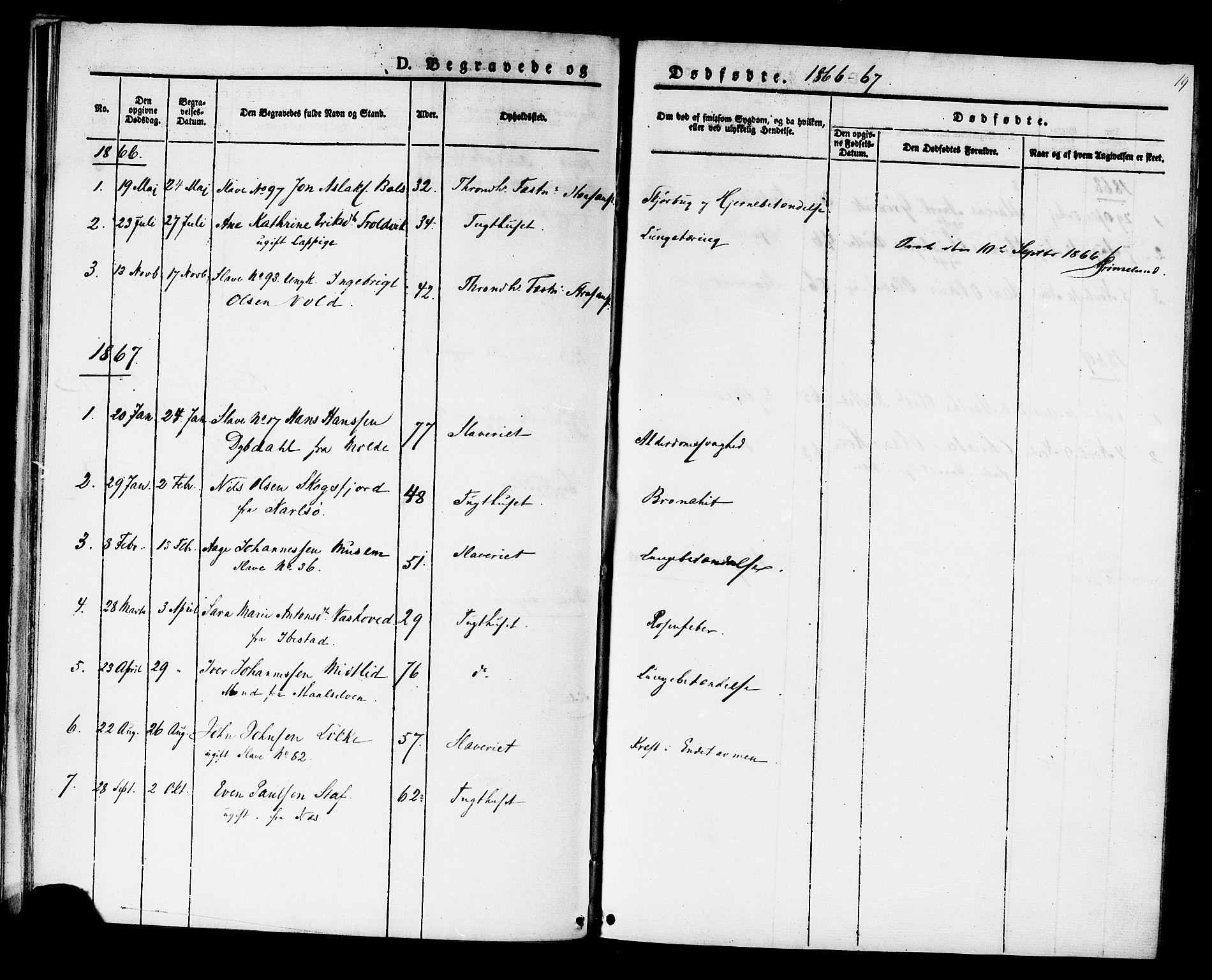 SAT, Ministerialprotokoller, klokkerbøker og fødselsregistre - Sør-Trøndelag, 624/L0481: Ministerialbok nr. 624A02, 1841-1869, s. 19