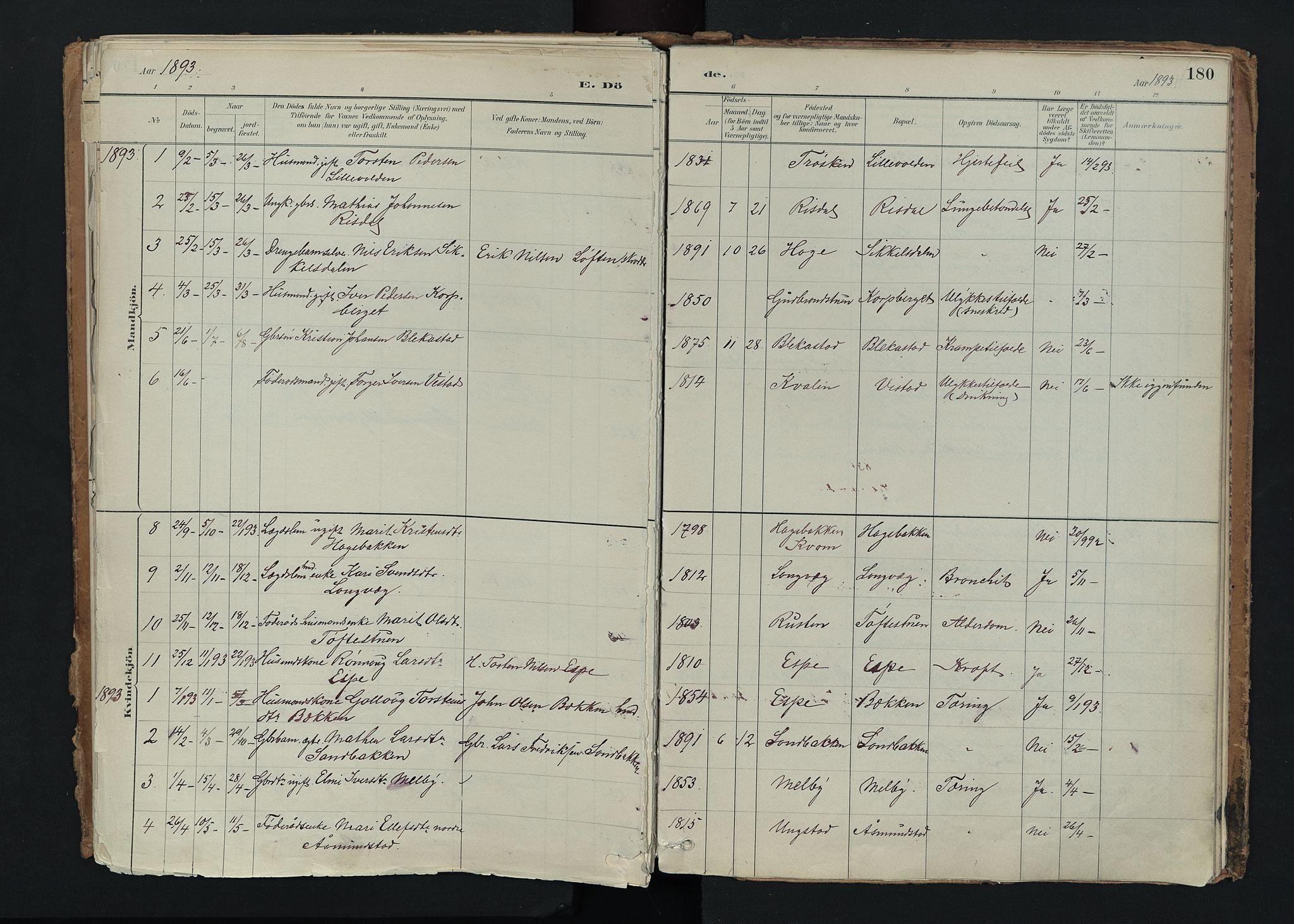 SAH, Nord-Fron prestekontor, Ministerialbok nr. 5, 1884-1914, s. 180