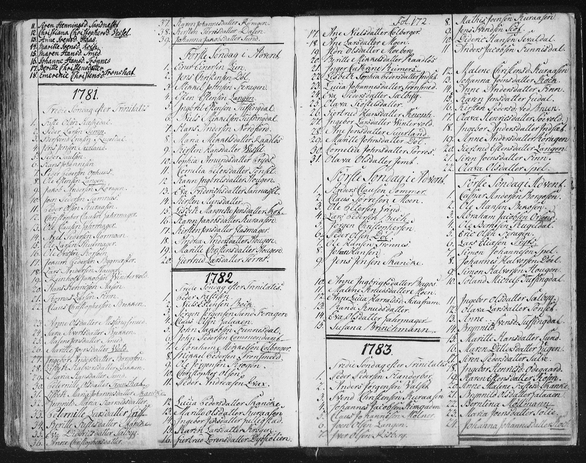 SAT, Ministerialprotokoller, klokkerbøker og fødselsregistre - Sør-Trøndelag, 681/L0926: Ministerialbok nr. 681A04, 1767-1797, s. 172