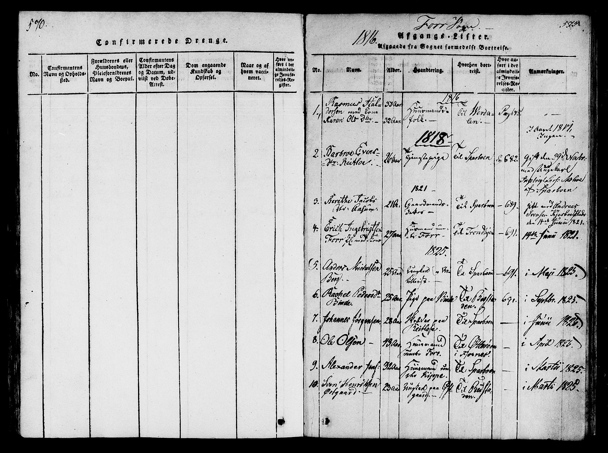 SAT, Ministerialprotokoller, klokkerbøker og fødselsregistre - Nord-Trøndelag, 746/L0441: Ministerialbok nr. 746A03 /1, 1816-1827, s. 570-575