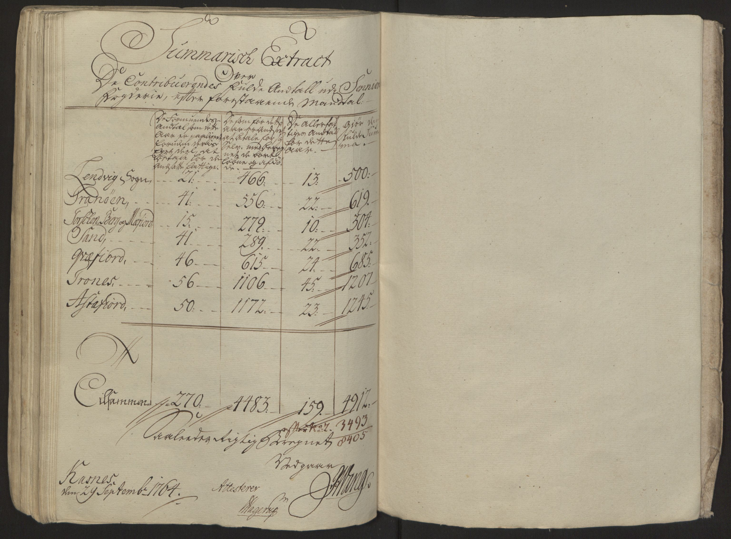 RA, Rentekammeret inntil 1814, Reviderte regnskaper, Fogderegnskap, R68/L4845: Ekstraskatten Senja og Troms, 1762-1765, s. 347
