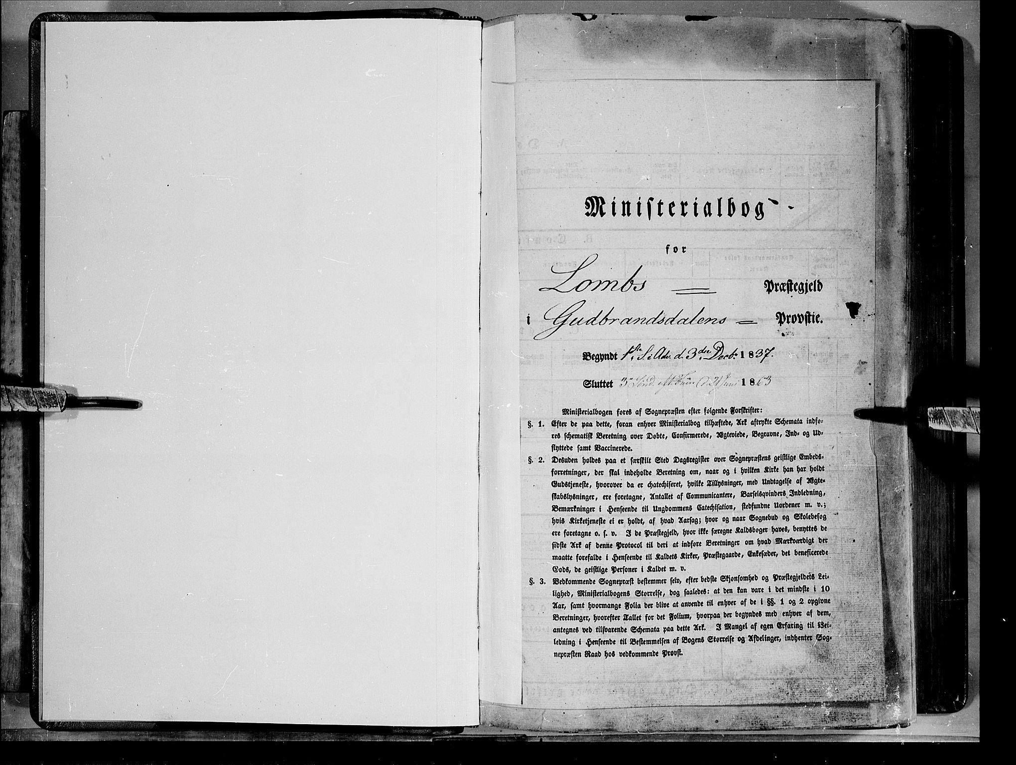 SAH, Lom prestekontor, K/L0006: Ministerialbok nr. 6A, 1837-1863
