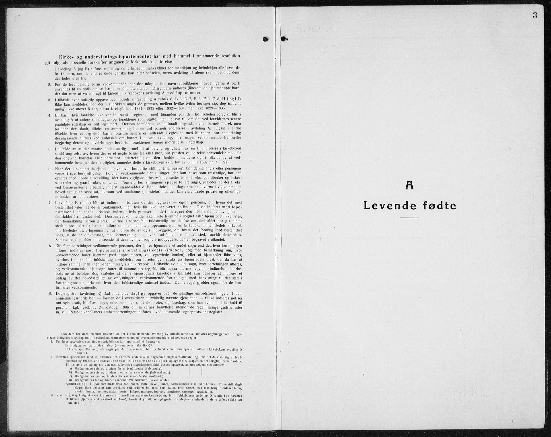 SAH, Gran prestekontor, Klokkerbok nr. 8, 1917-1935, s. 3