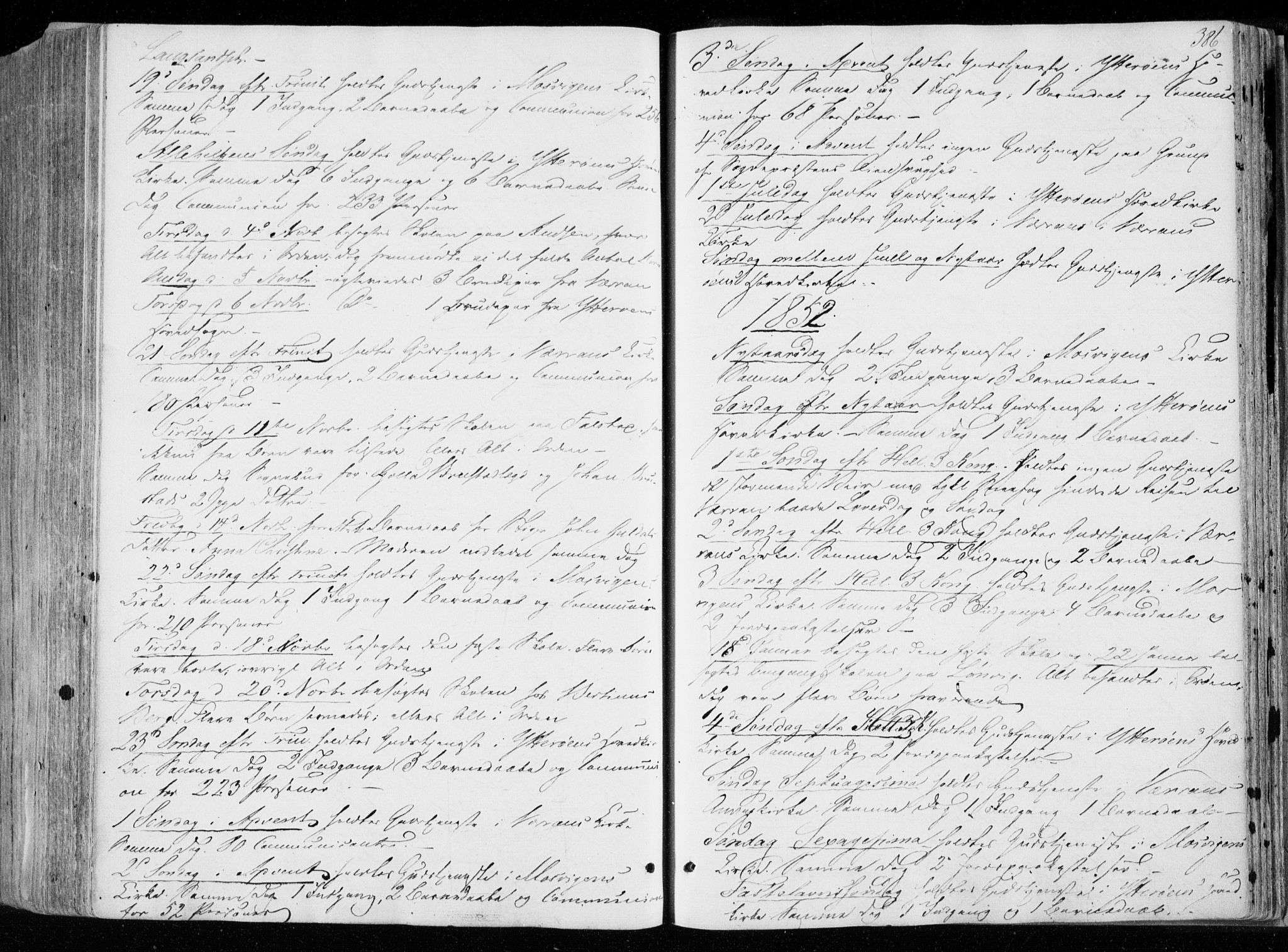 SAT, Ministerialprotokoller, klokkerbøker og fødselsregistre - Nord-Trøndelag, 722/L0218: Ministerialbok nr. 722A05, 1843-1868, s. 386
